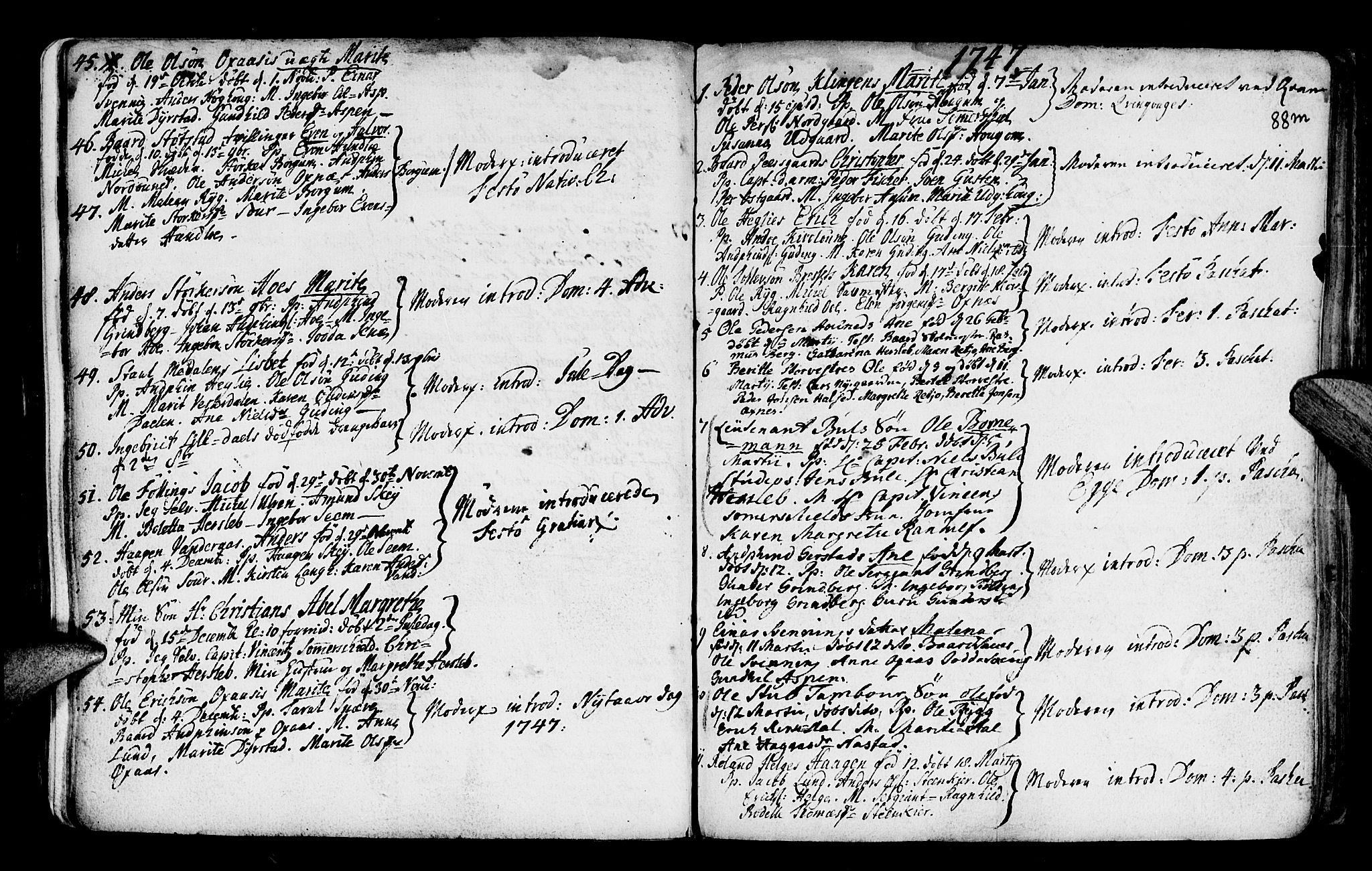 SAT, Ministerialprotokoller, klokkerbøker og fødselsregistre - Nord-Trøndelag, 746/L0439: Ministerialbok nr. 746A01, 1688-1759, s. 88m