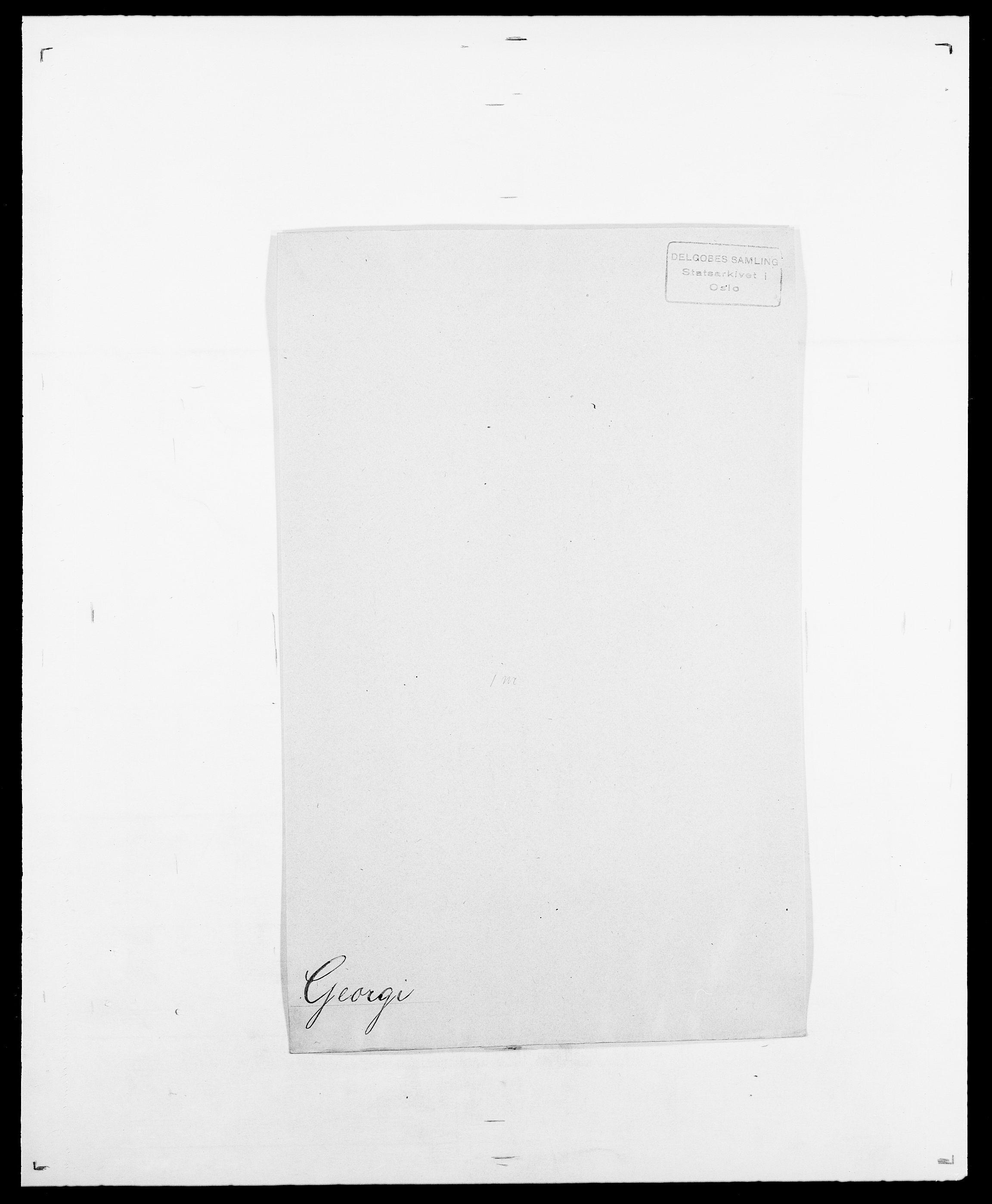 SAO, Delgobe, Charles Antoine - samling, D/Da/L0013: Forbos - Geving, s. 613