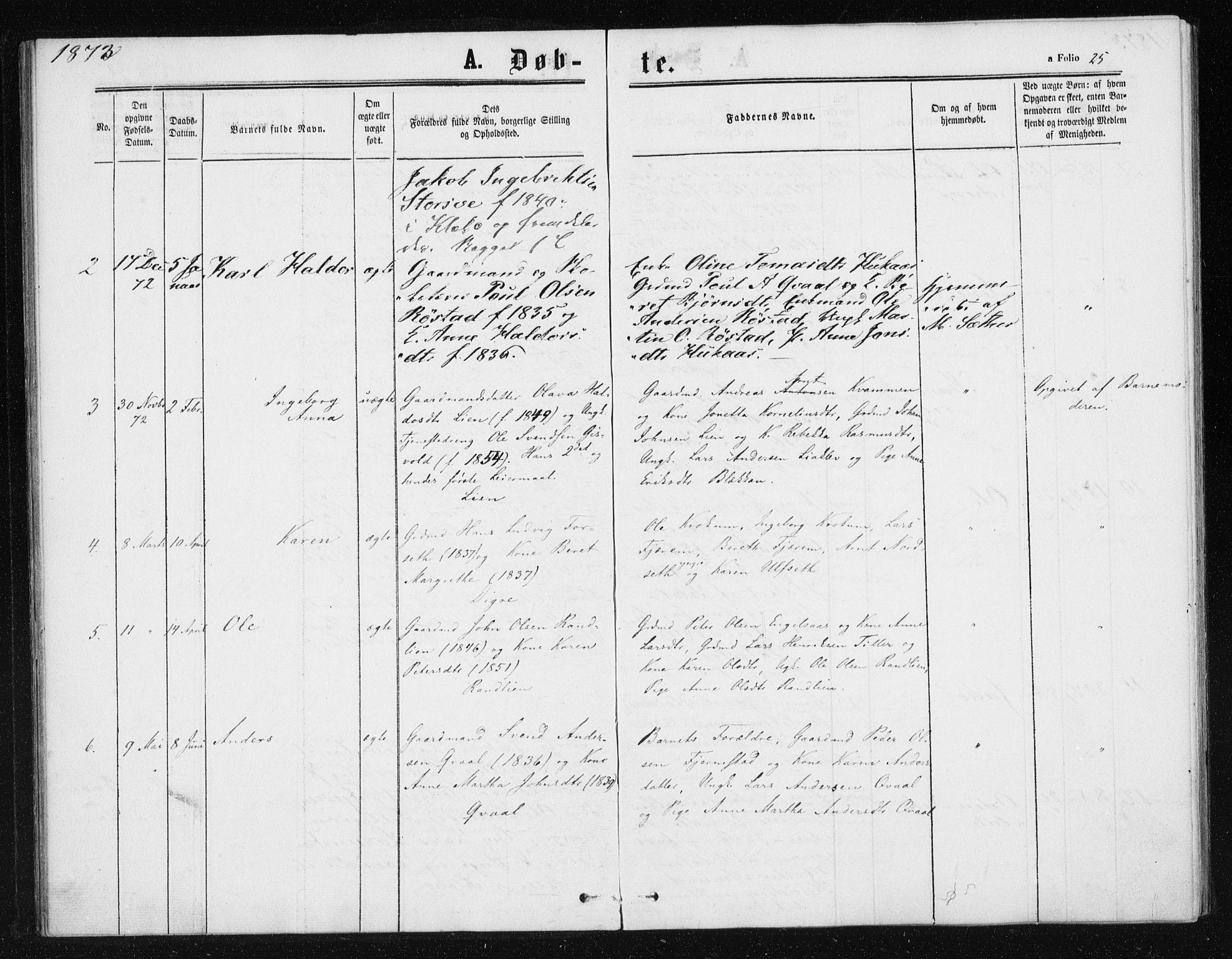 SAT, Ministerialprotokoller, klokkerbøker og fødselsregistre - Sør-Trøndelag, 608/L0333: Ministerialbok nr. 608A02, 1862-1876, s. 25