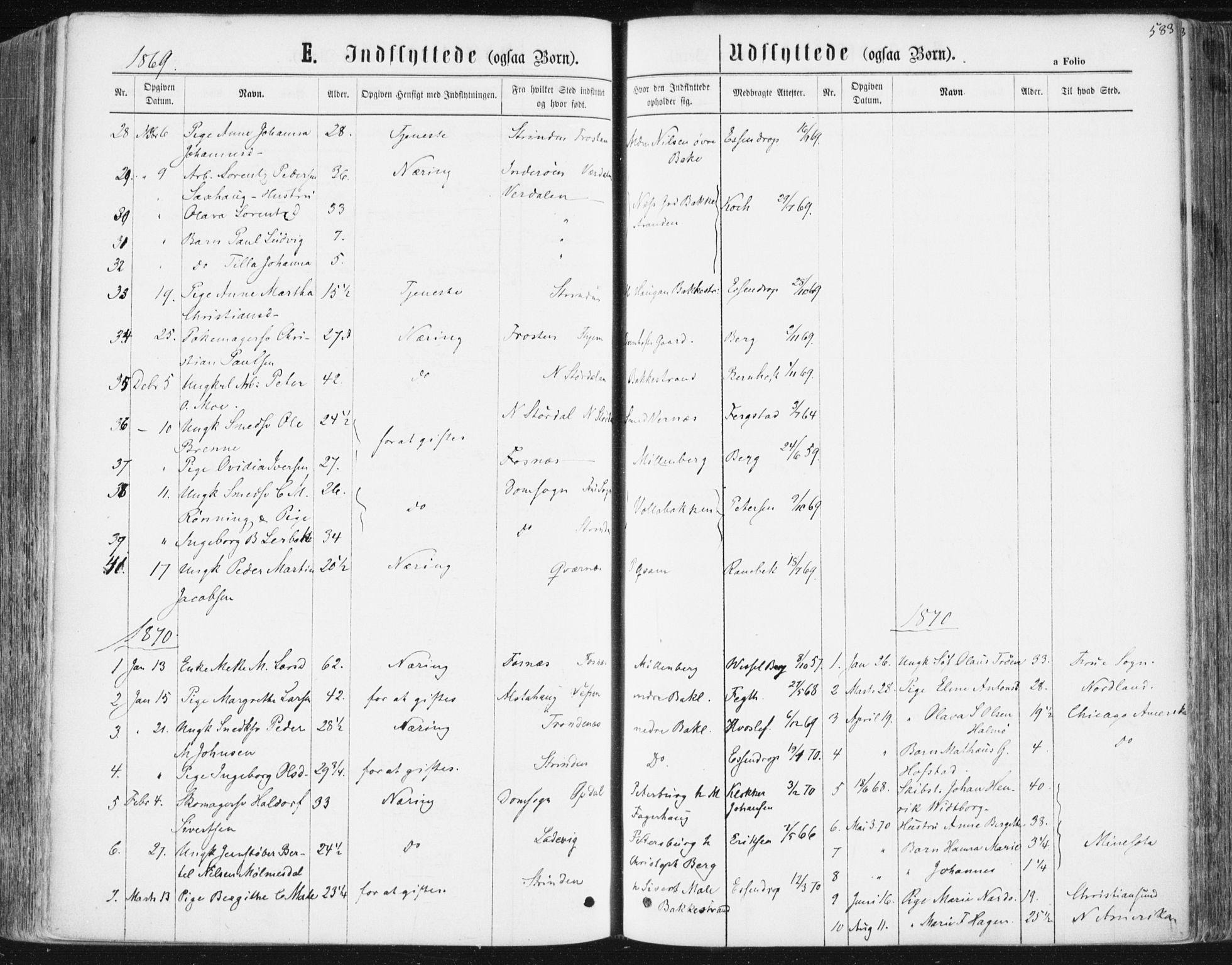 SAT, Ministerialprotokoller, klokkerbøker og fødselsregistre - Sør-Trøndelag, 604/L0186: Ministerialbok nr. 604A07, 1866-1877, s. 583