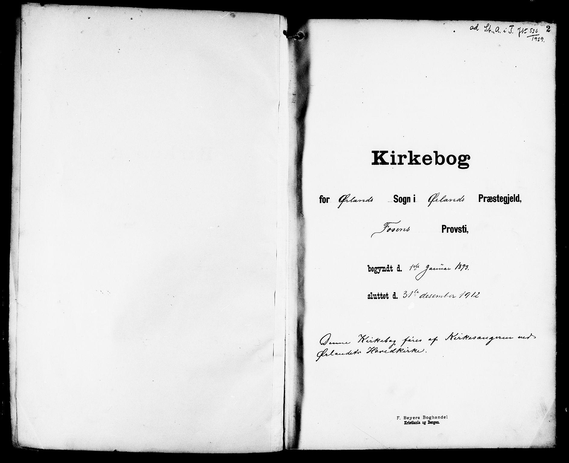 SAT, Ministerialprotokoller, klokkerbøker og fødselsregistre - Sør-Trøndelag, 659/L0746: Klokkerbok nr. 659C03, 1893-1912, s. 2