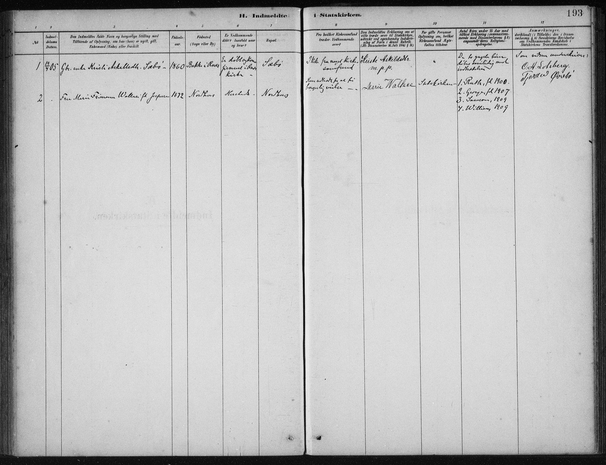 SAB, Fjelberg Sokneprestembete, H/Haa: Ministerialbok nr. B  1, 1879-1919, s. 193