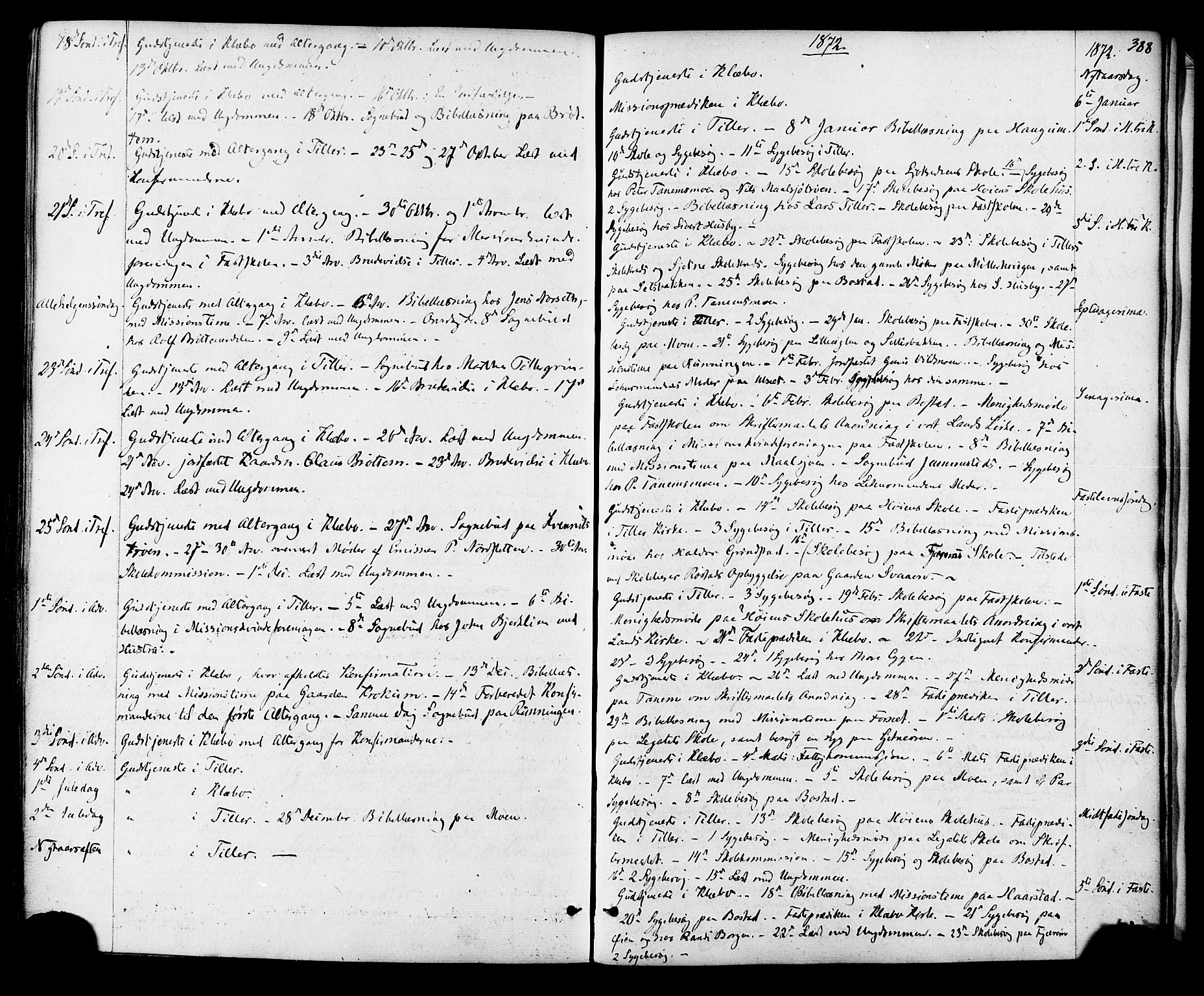 SAT, Ministerialprotokoller, klokkerbøker og fødselsregistre - Sør-Trøndelag, 618/L0442: Ministerialbok nr. 618A06 /1, 1863-1879, s. 388