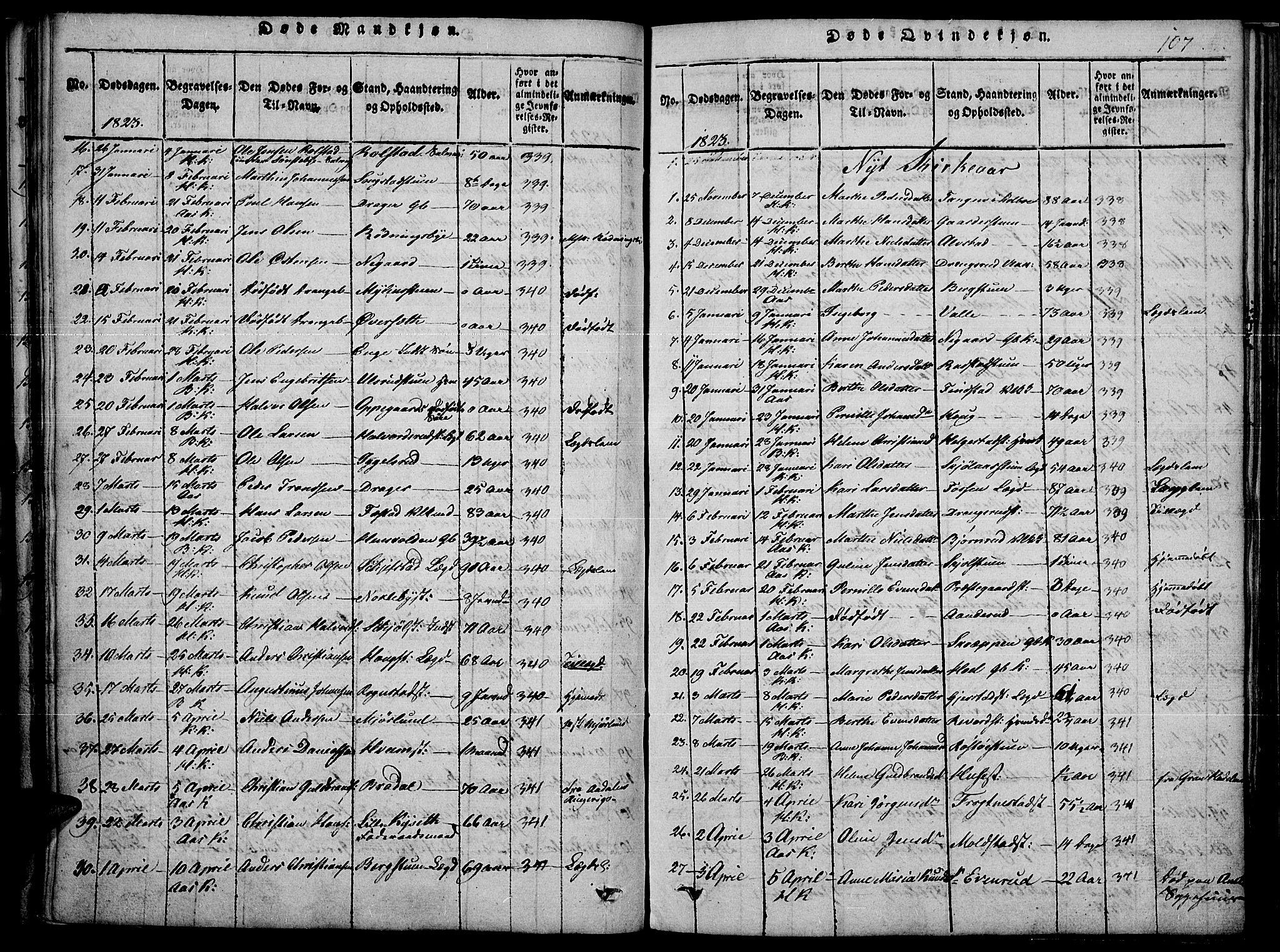 SAH, Toten prestekontor, Ministerialbok nr. 10, 1820-1828, s. 107