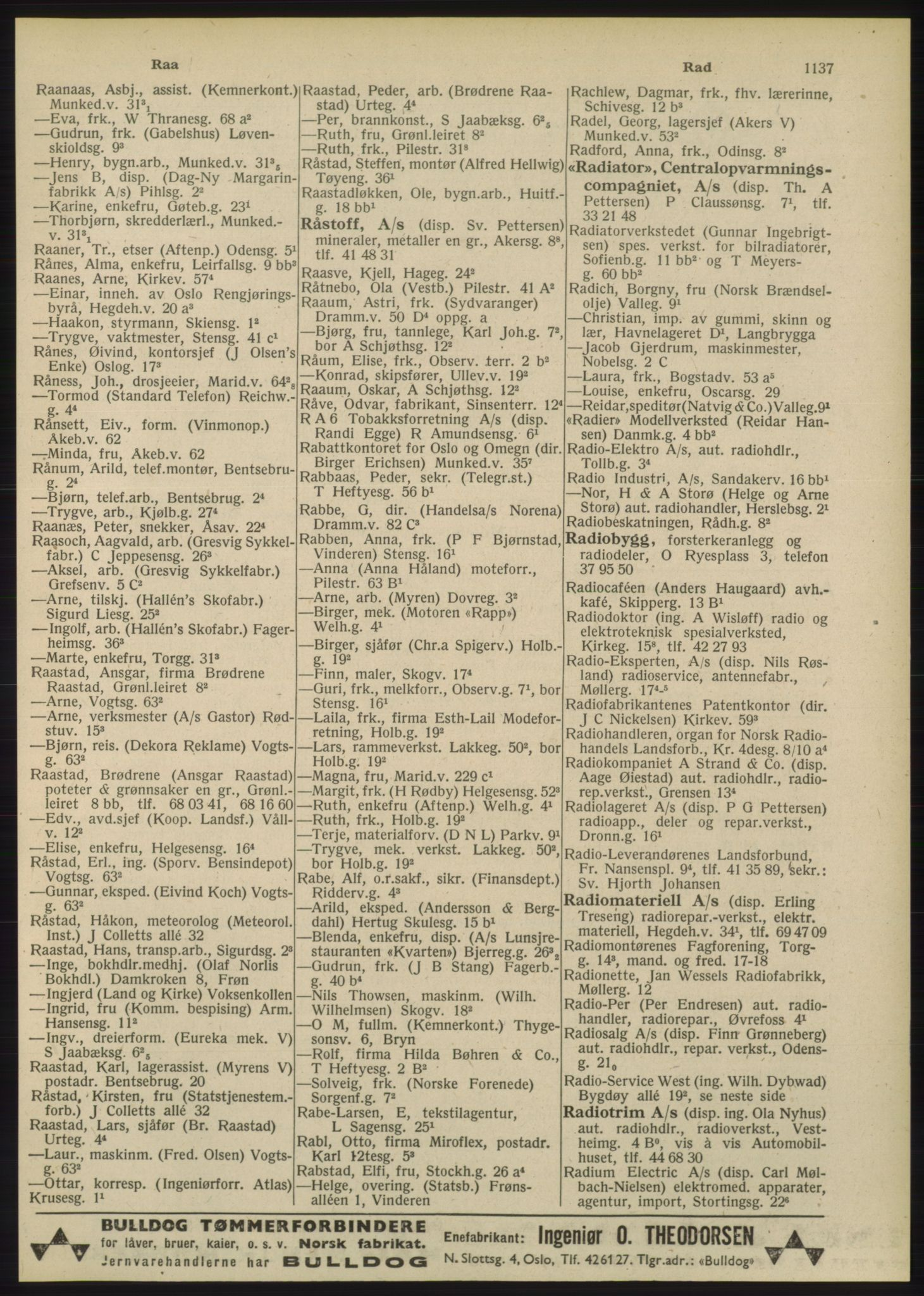 PUBL, Kristiania/Oslo adressebok, 1948, s. 1137