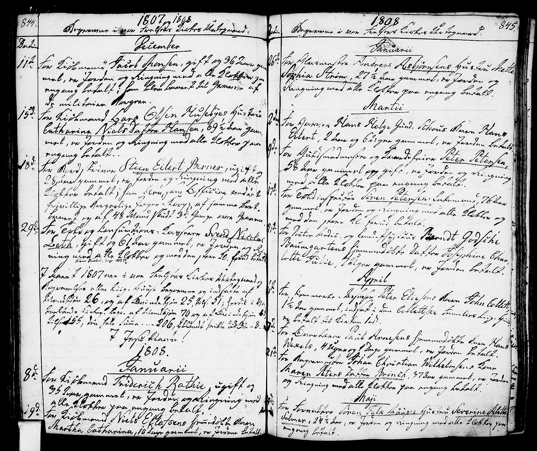 SAO, Oslo domkirke Kirkebøker, F/Fa/L0006: Ministerialbok nr. 6, 1807-1817, s. 844-845