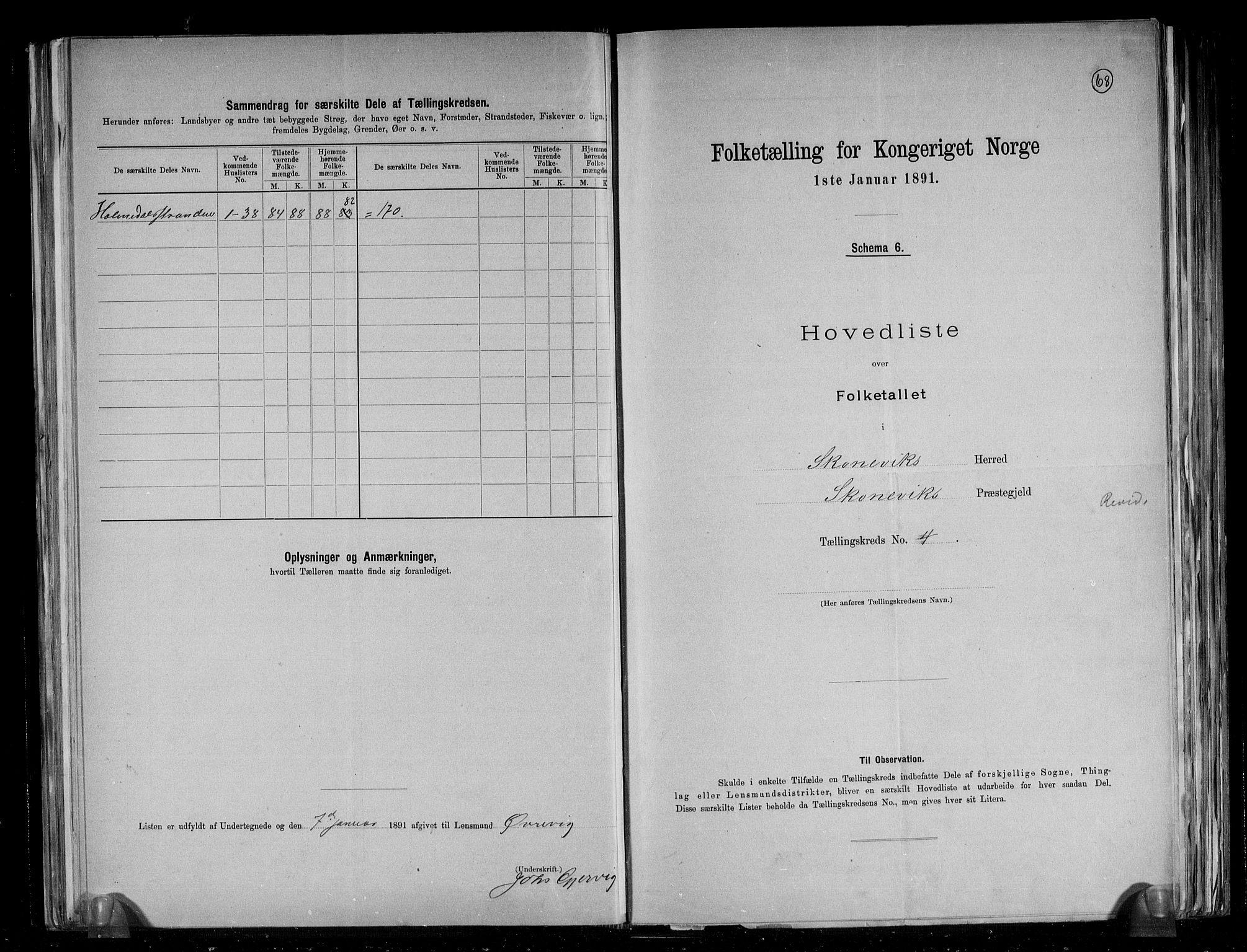 RA, Folketelling 1891 for 1212 Skånevik herred, 1891, s. 10