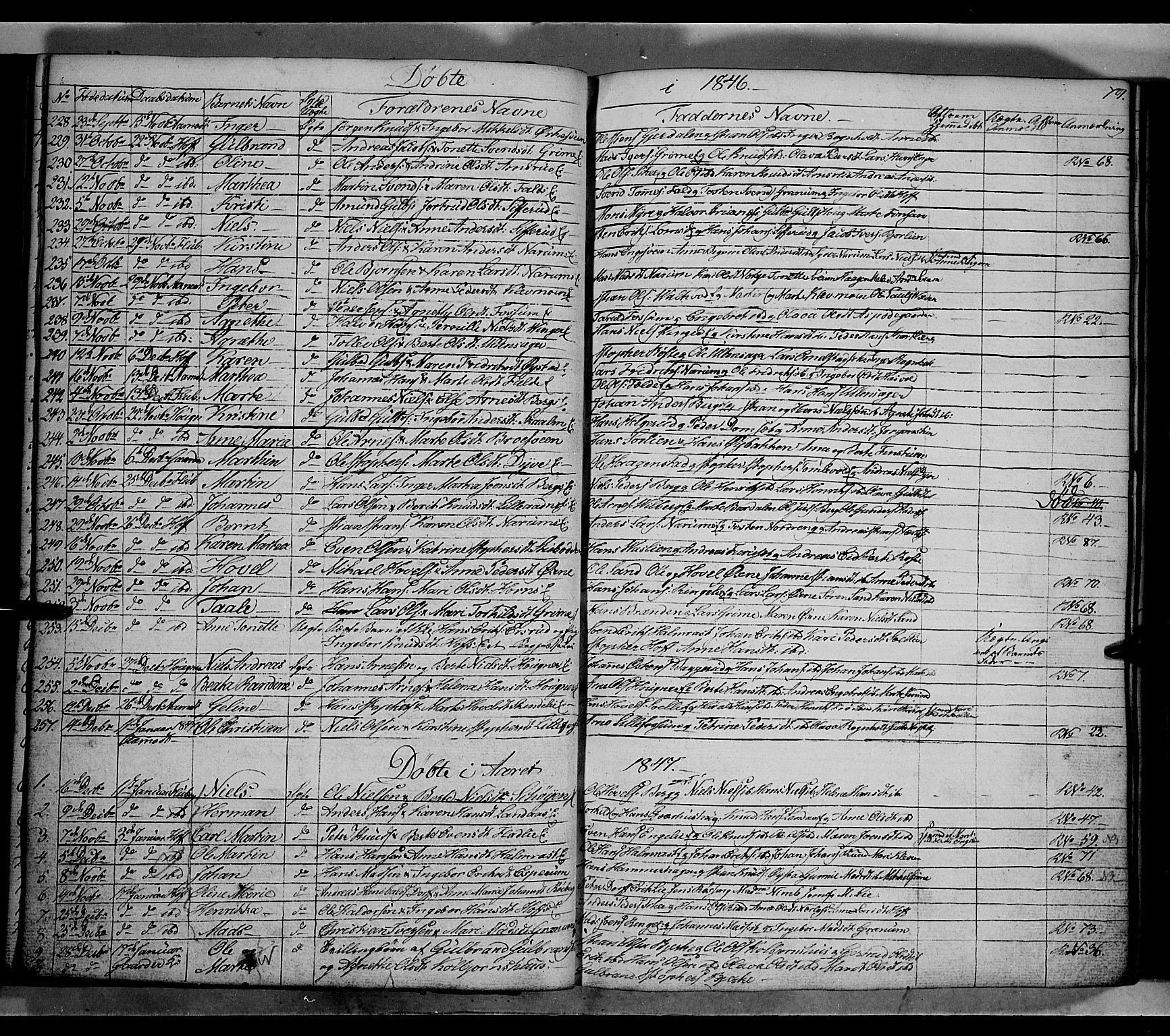 SAH, Land prestekontor, Klokkerbok nr. 2, 1833-1849, s. 79