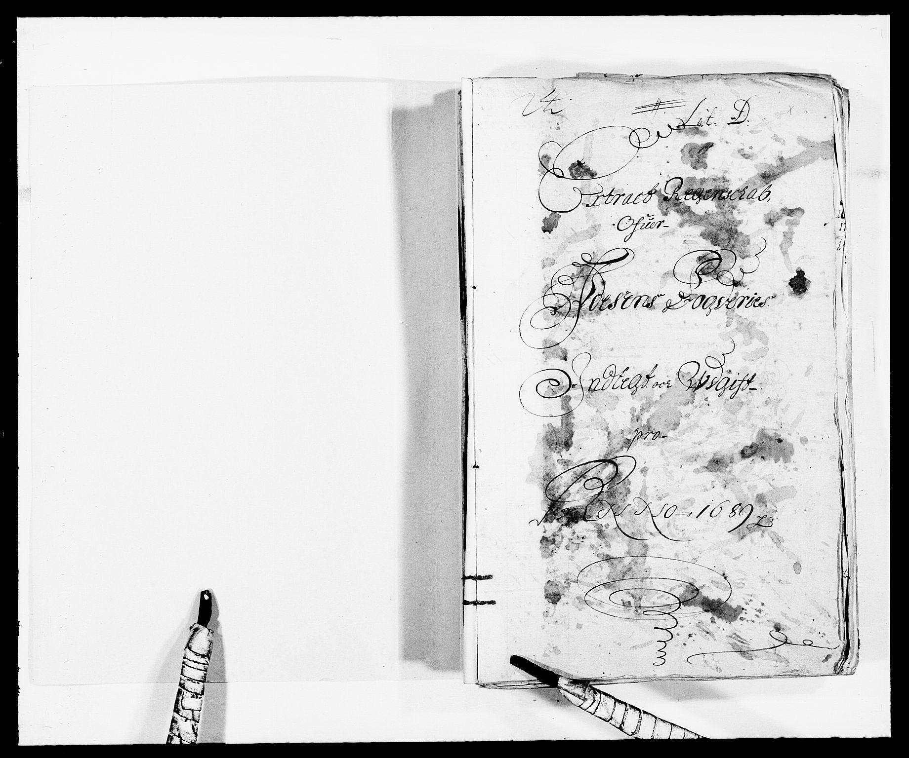 RA, Rentekammeret inntil 1814, Reviderte regnskaper, Fogderegnskap, R57/L3847: Fogderegnskap Fosen, 1689, s. 2