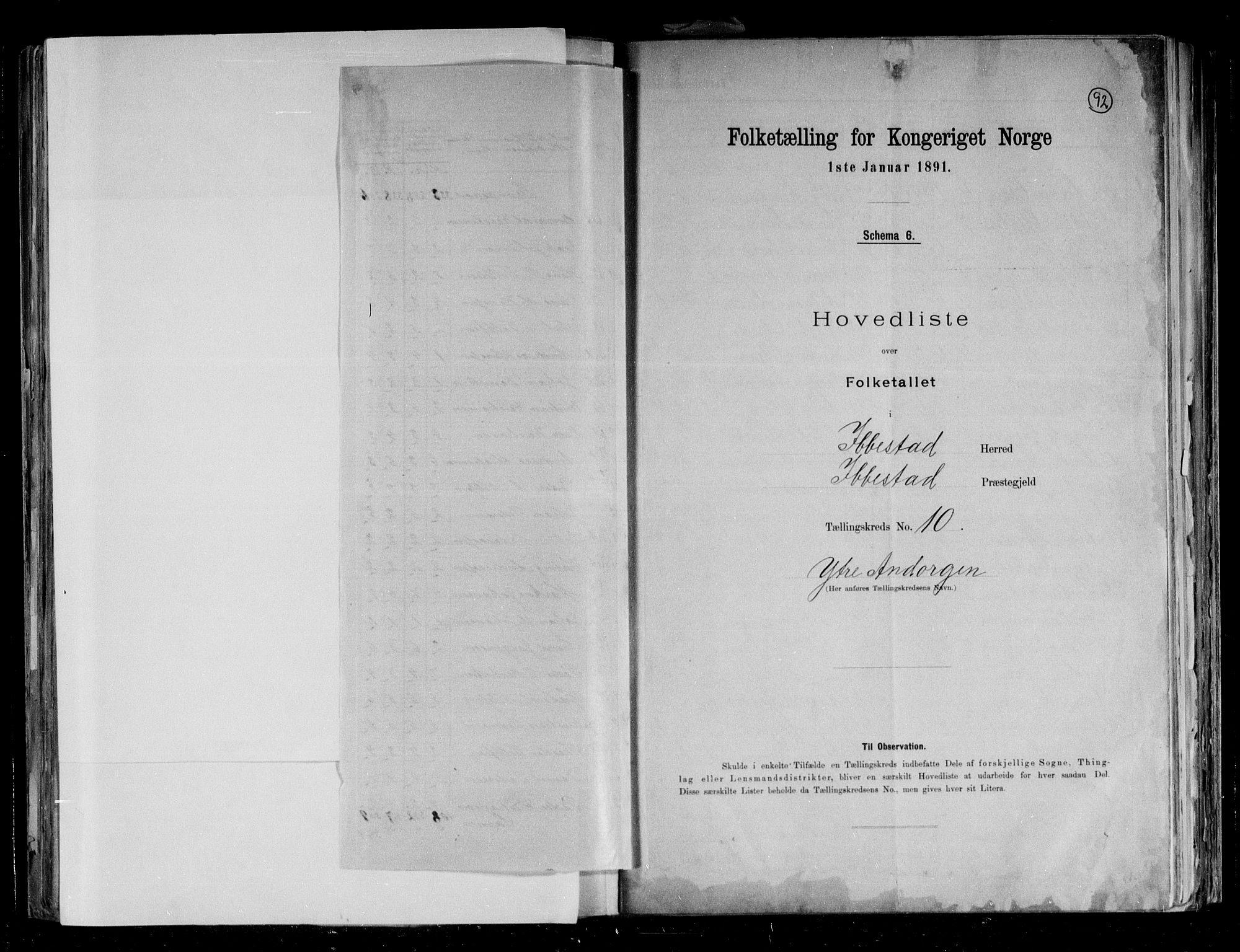 RA, Folketelling 1891 for 1917 Ibestad herred, 1891, s. 28