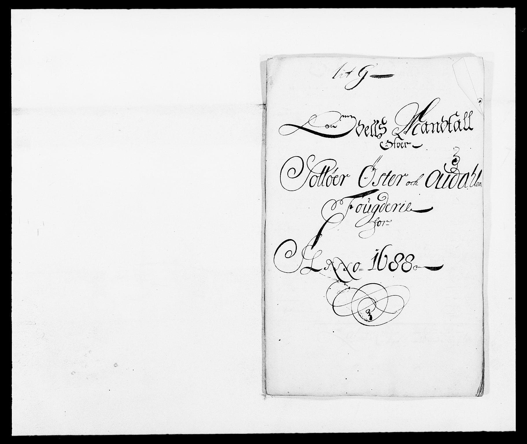 RA, Rentekammeret inntil 1814, Reviderte regnskaper, Fogderegnskap, R13/L0825: Fogderegnskap Solør, Odal og Østerdal, 1688, s. 207