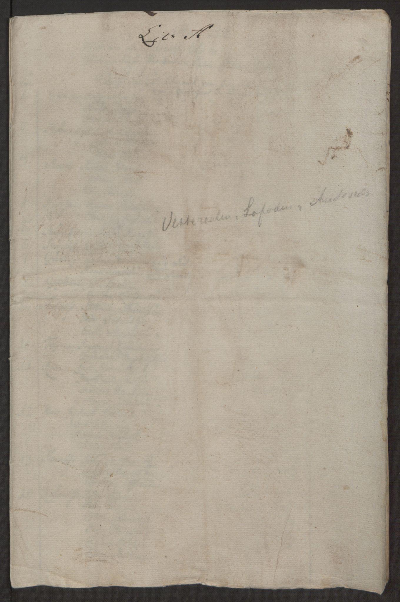 RA, Rentekammeret inntil 1814, Realistisk ordnet avdeling, Ol/L0022a: [Gg 10]: Ekstraskatten, 23.09.1762. Nordlands amt, 1763-1769, s. 57