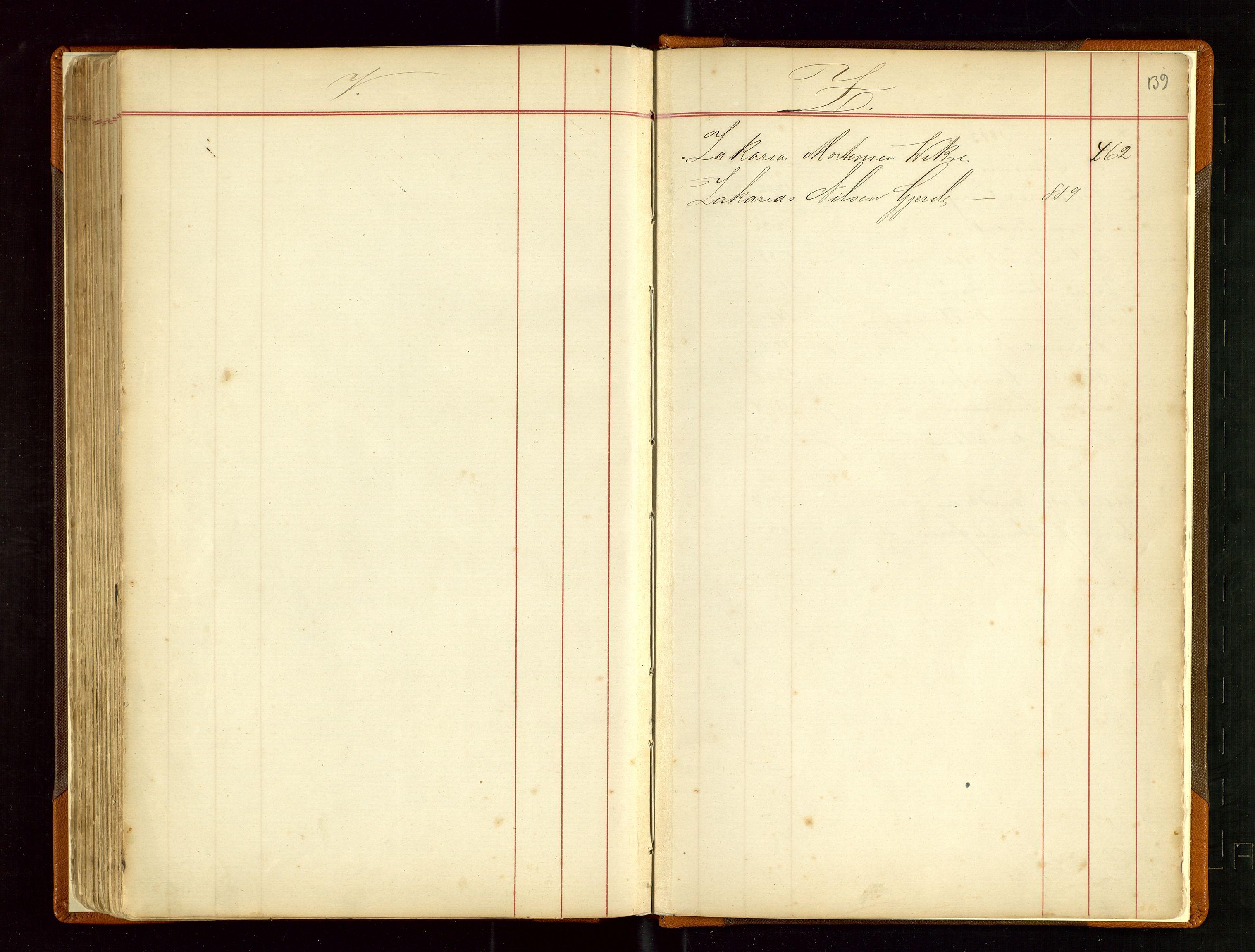 SAST, Haugesund sjømannskontor, F/Fb/Fba/L0003: Navneregister med henvisning til rullenummer (fornavn) Haugesund krets, 1860-1948, s. 139