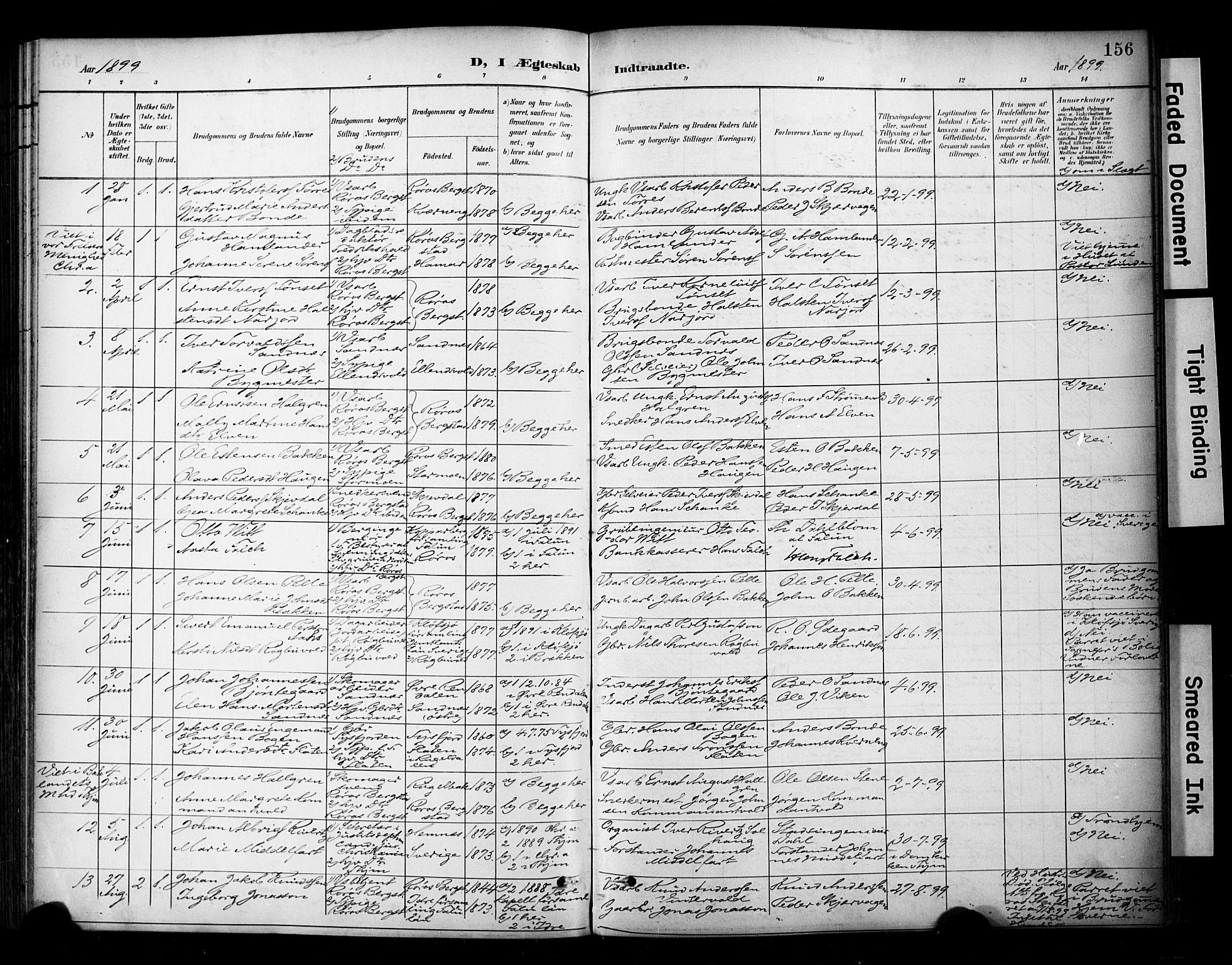 SAT, Ministerialprotokoller, klokkerbøker og fødselsregistre - Sør-Trøndelag, 681/L0936: Ministerialbok nr. 681A14, 1899-1908, s. 156