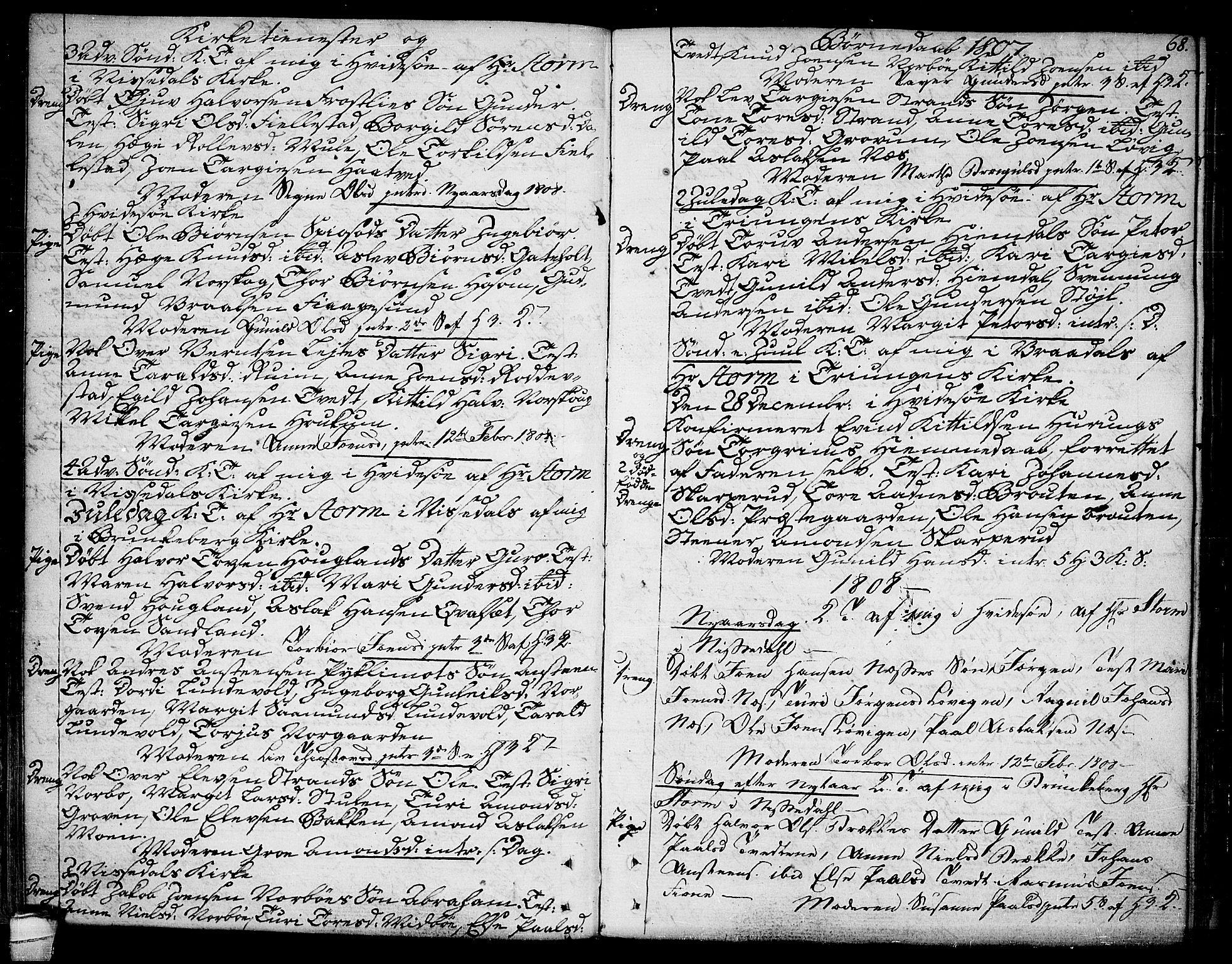 SAKO, Kviteseid kirkebøker, F/Fa/L0004: Ministerialbok nr. I 4, 1800-1814, s. 68