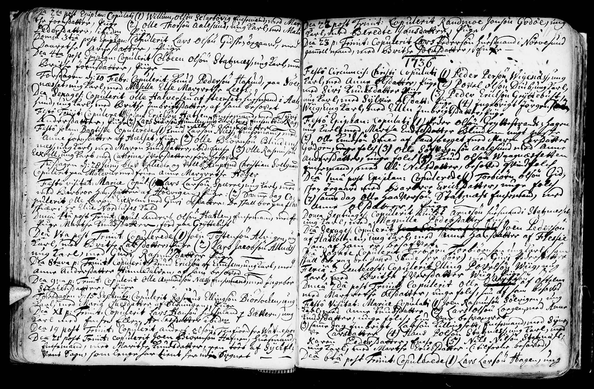 SAT, Ministerialprotokoller, klokkerbøker og fødselsregistre - Møre og Romsdal, 528/L0390: Ministerialbok nr. 528A01, 1698-1739, s. 116-117