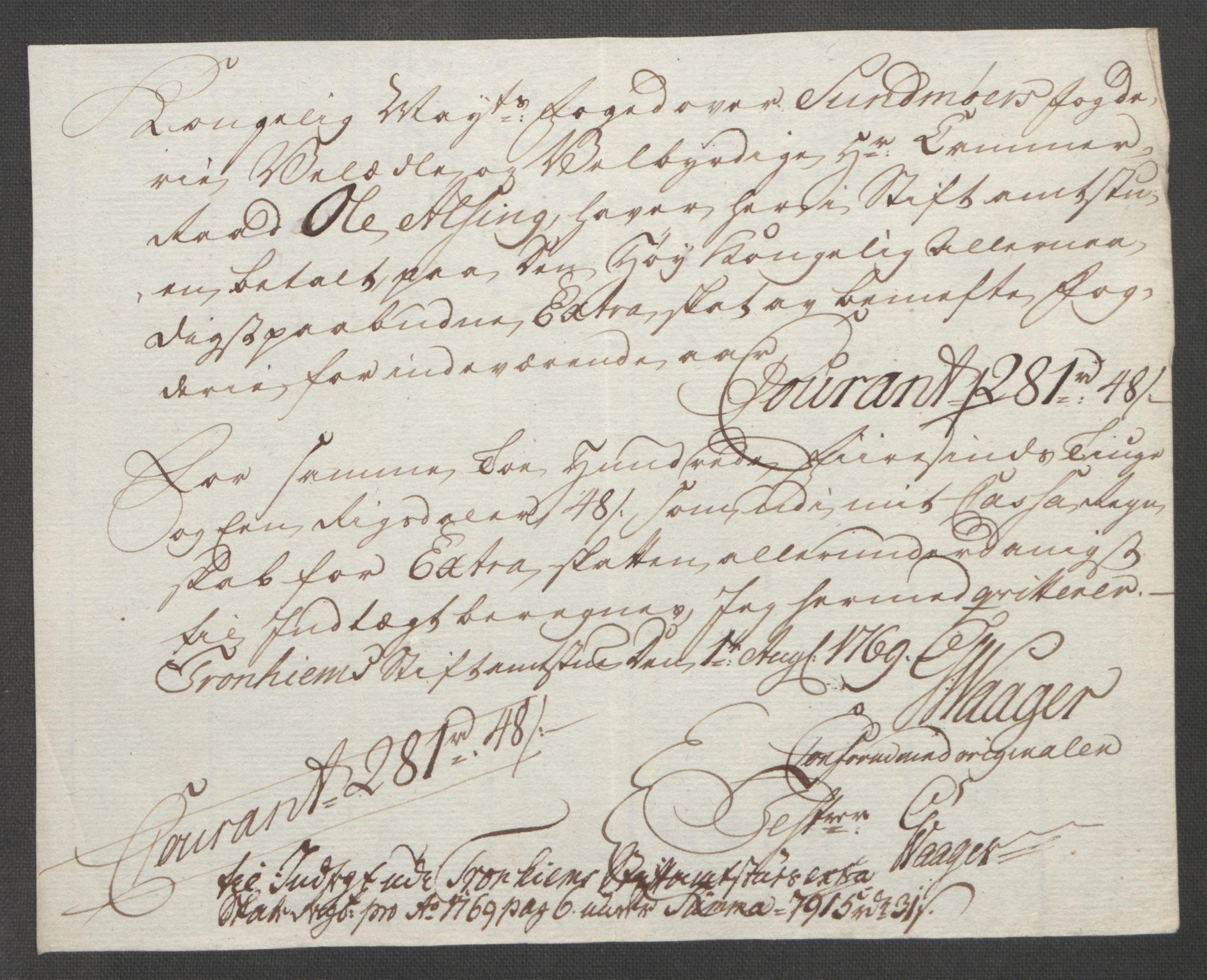 RA, Rentekammeret inntil 1814, Reviderte regnskaper, Fogderegnskap, R54/L3645: Ekstraskatten Sunnmøre, 1762-1772, s. 162
