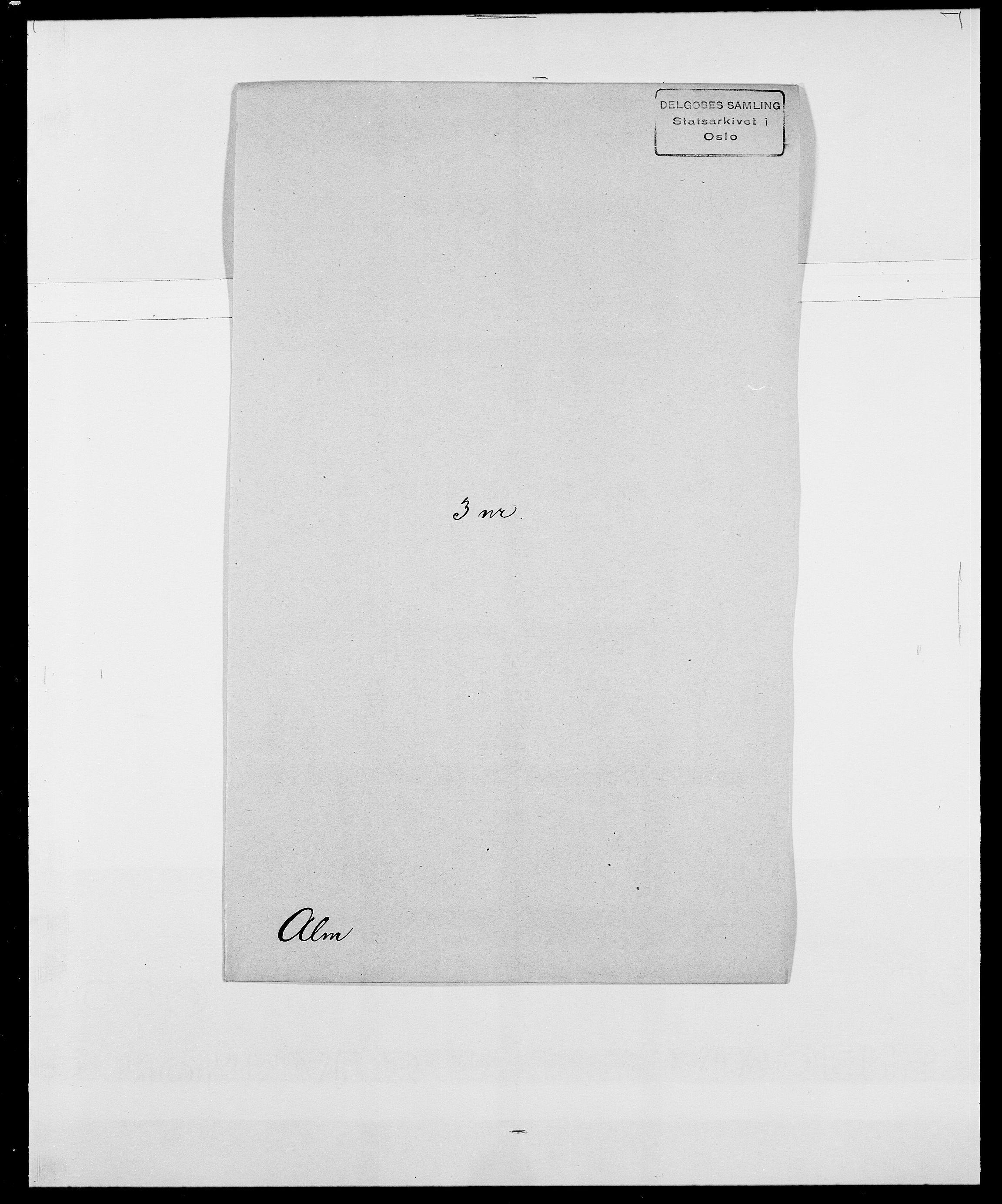 SAO, Delgobe, Charles Antoine - samling, D/Da/L0001: Aabye - Angerman, s. 432