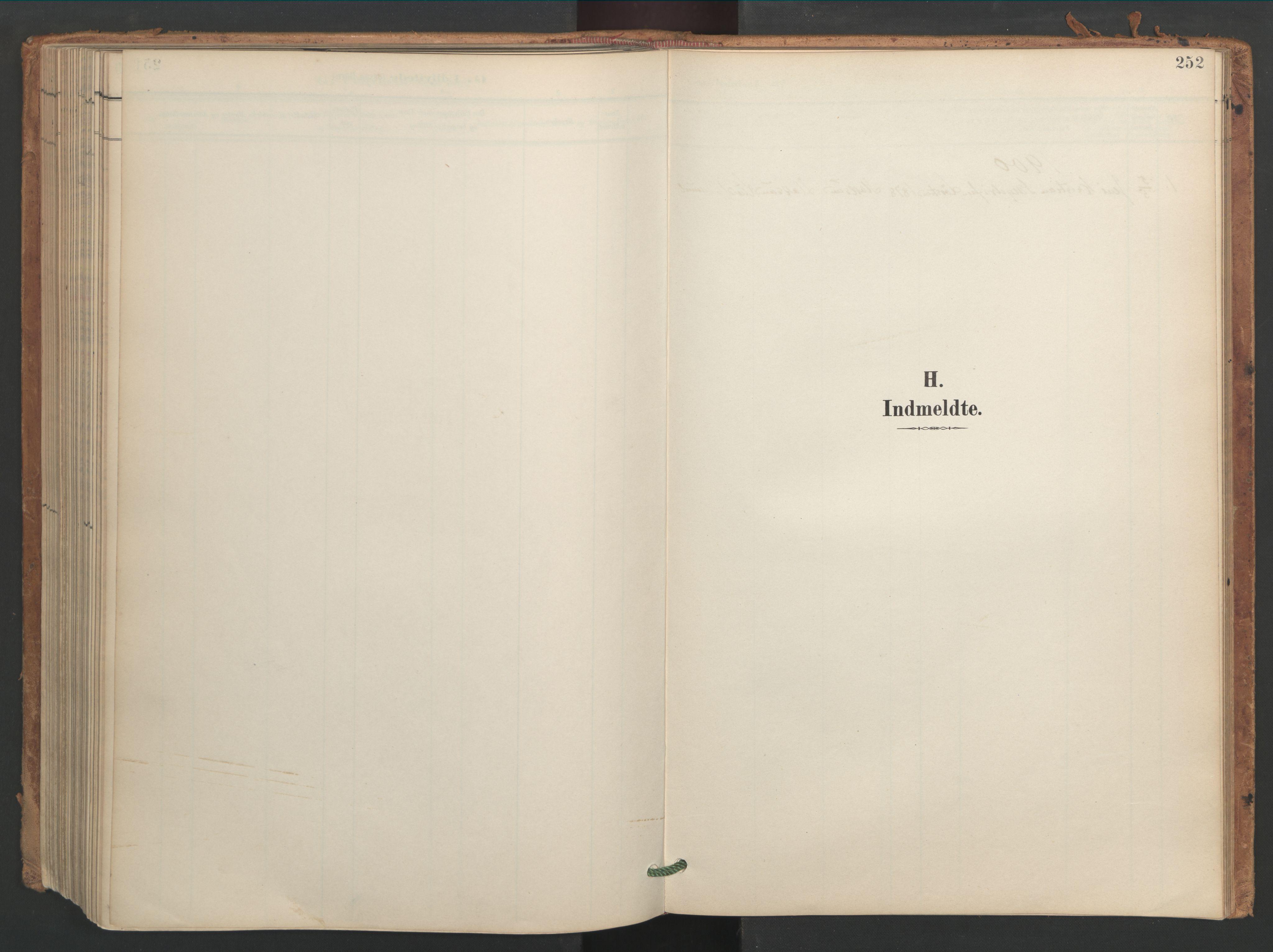 SAT, Ministerialprotokoller, klokkerbøker og fødselsregistre - Sør-Trøndelag, 656/L0693: Ministerialbok nr. 656A02, 1894-1913, s. 252
