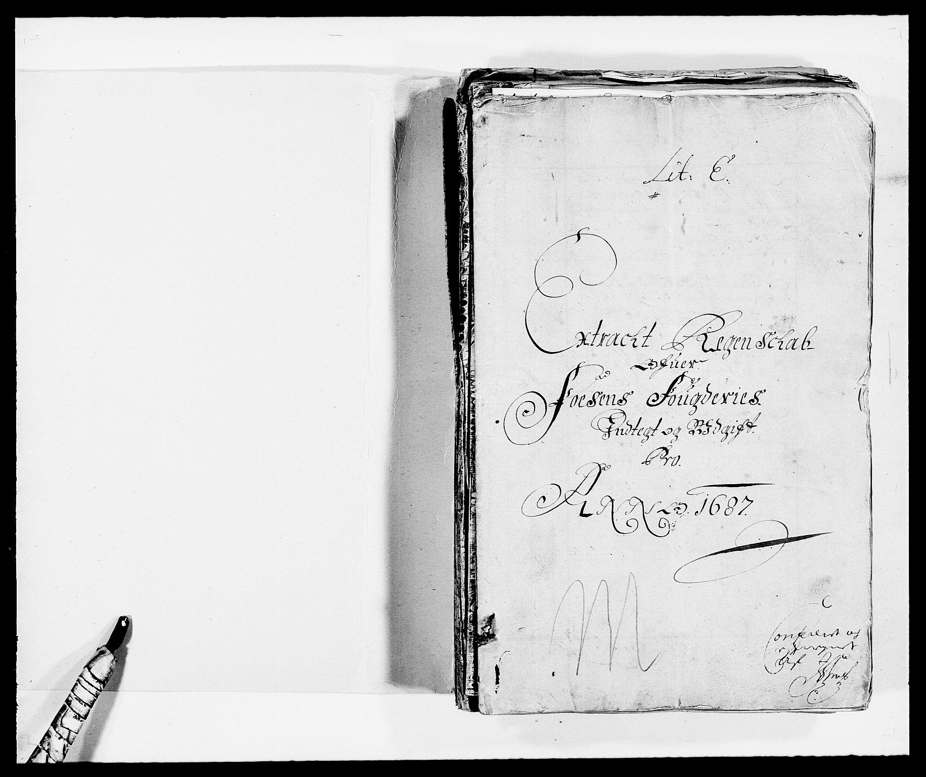 RA, Rentekammeret inntil 1814, Reviderte regnskaper, Fogderegnskap, R57/L3845: Fogderegnskap Fosen, 1687, s. 2