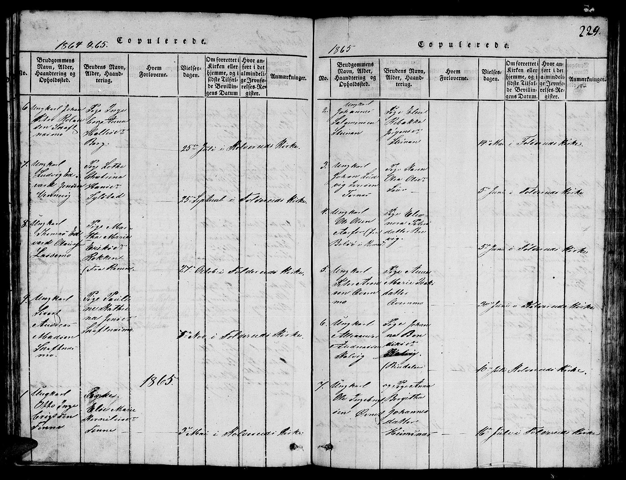 SAT, Ministerialprotokoller, klokkerbøker og fødselsregistre - Nord-Trøndelag, 780/L0648: Klokkerbok nr. 780C01 /3, 1815-1877, s. 229