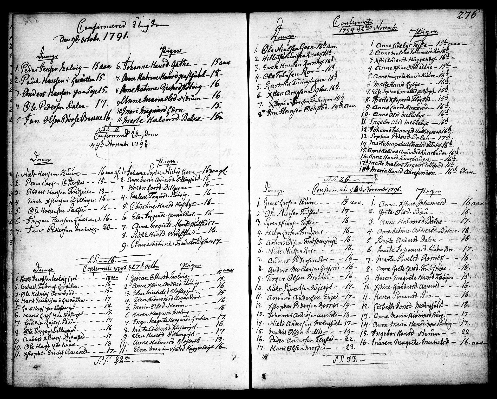 SAO, Rygge prestekontor Kirkebøker, F/Fa/L0002: Ministerialbok nr. 2, 1771-1814, s. 276