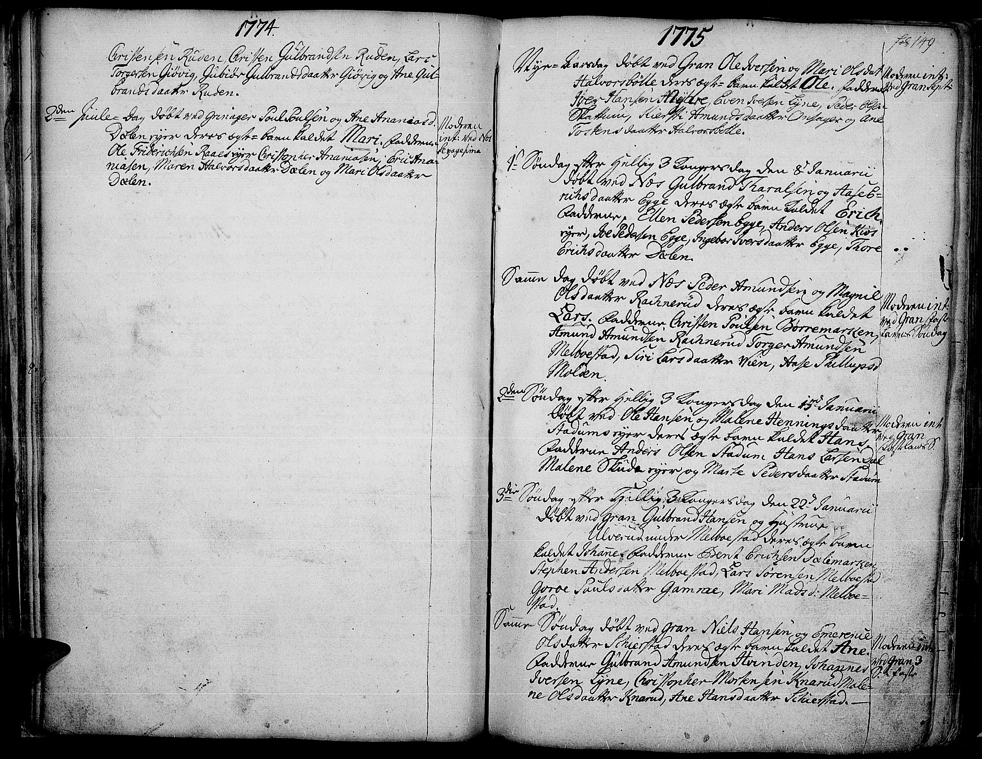 SAH, Gran prestekontor, Ministerialbok nr. 4, 1759-1775, s. 149