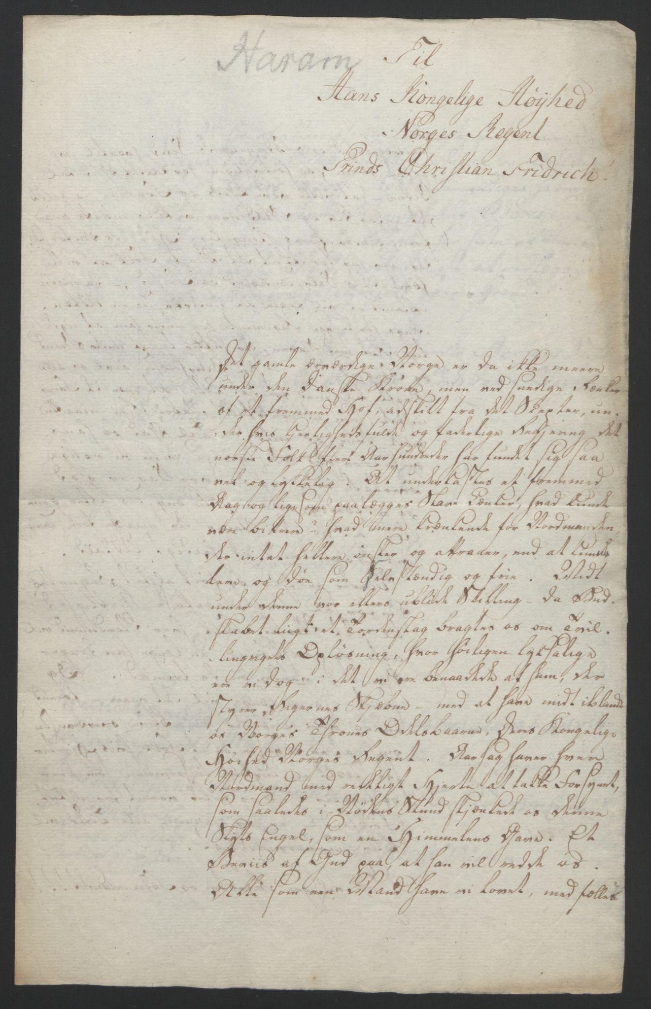 RA, Statsrådssekretariatet, D/Db/L0008: Fullmakter for Eidsvollsrepresentantene i 1814. , 1814, s. 377