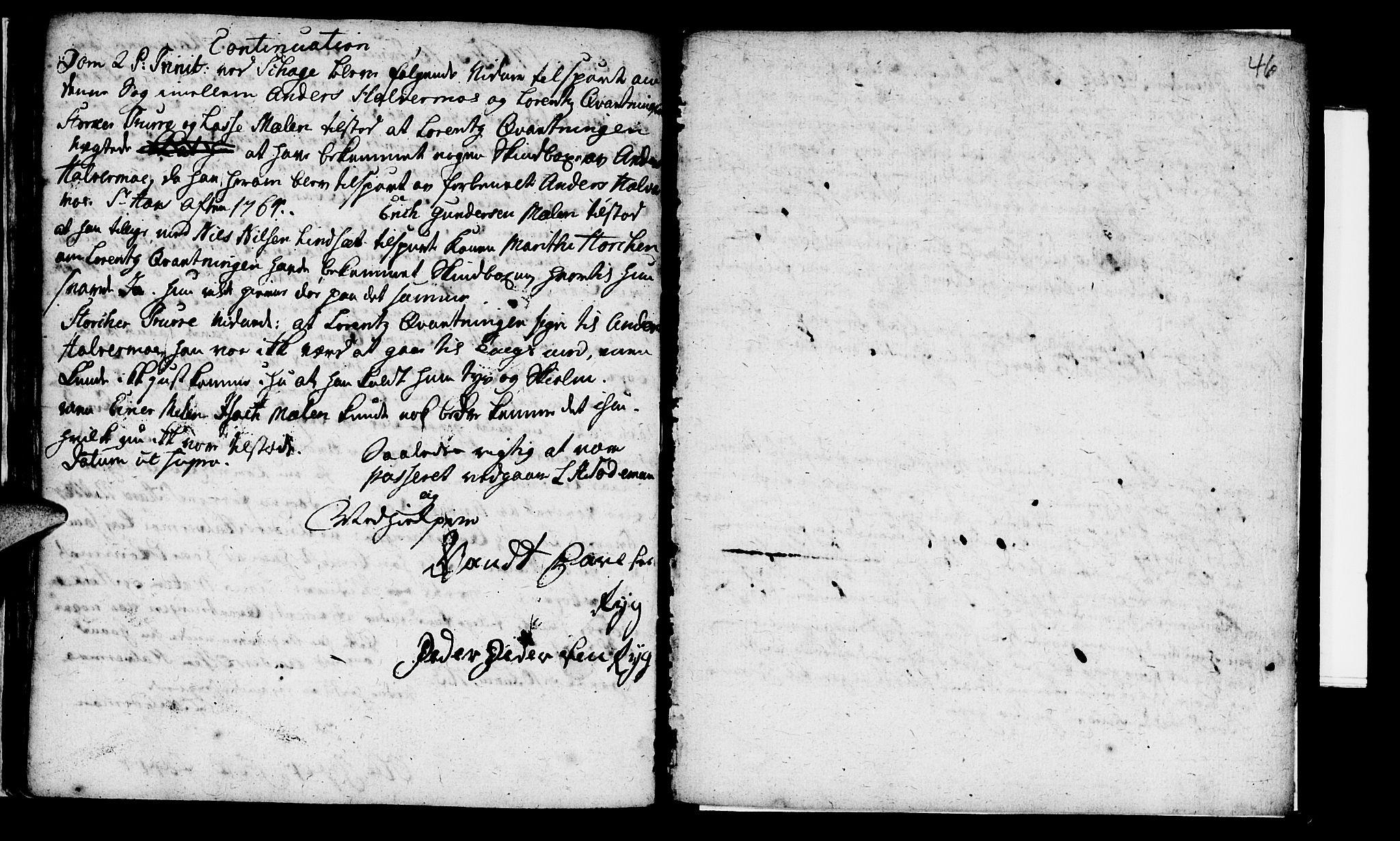 SAT, Ministerialprotokoller, klokkerbøker og fødselsregistre - Nord-Trøndelag, 765/L0561: Ministerialbok nr. 765A02, 1758-1765, s. 46