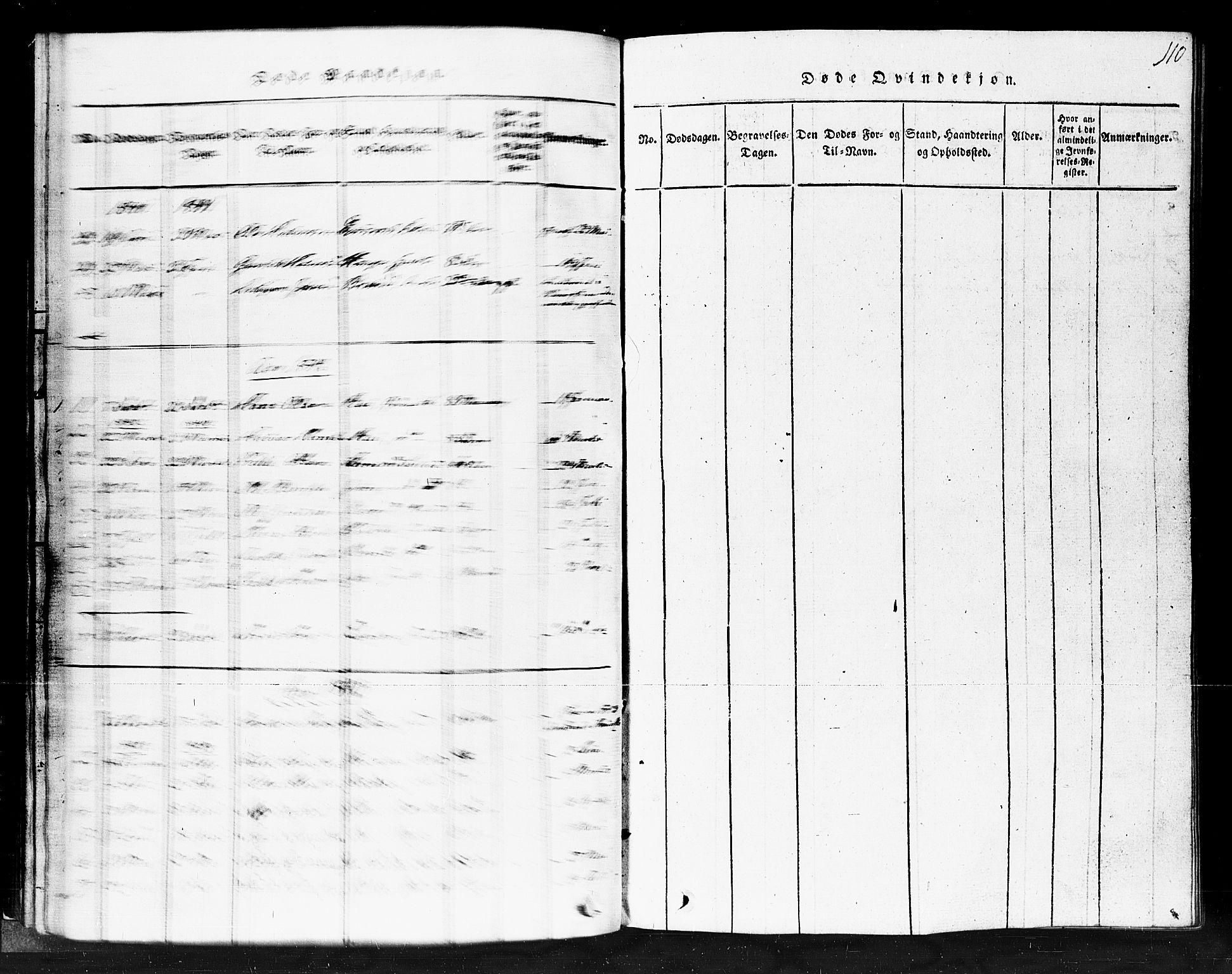 SAKO, Gransherad kirkebøker, F/Fb/L0002: Ministerialbok nr. II 2, 1815-1843, s. 110