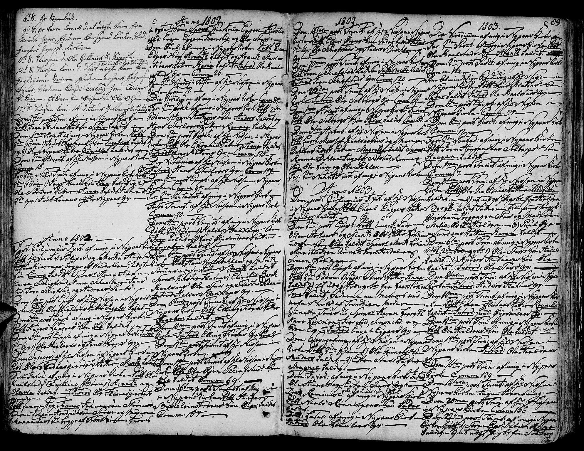 SAT, Ministerialprotokoller, klokkerbøker og fødselsregistre - Sør-Trøndelag, 691/L1063: Ministerialbok nr. 691A02 /3, 1768-1815, s. 89