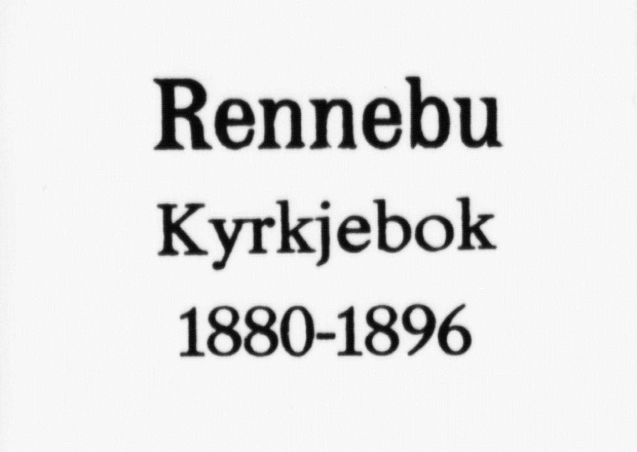 SAT, Ministerialprotokoller, klokkerbøker og fødselsregistre - Sør-Trøndelag, 674/L0871: Ministerialbok nr. 674A03, 1880-1896