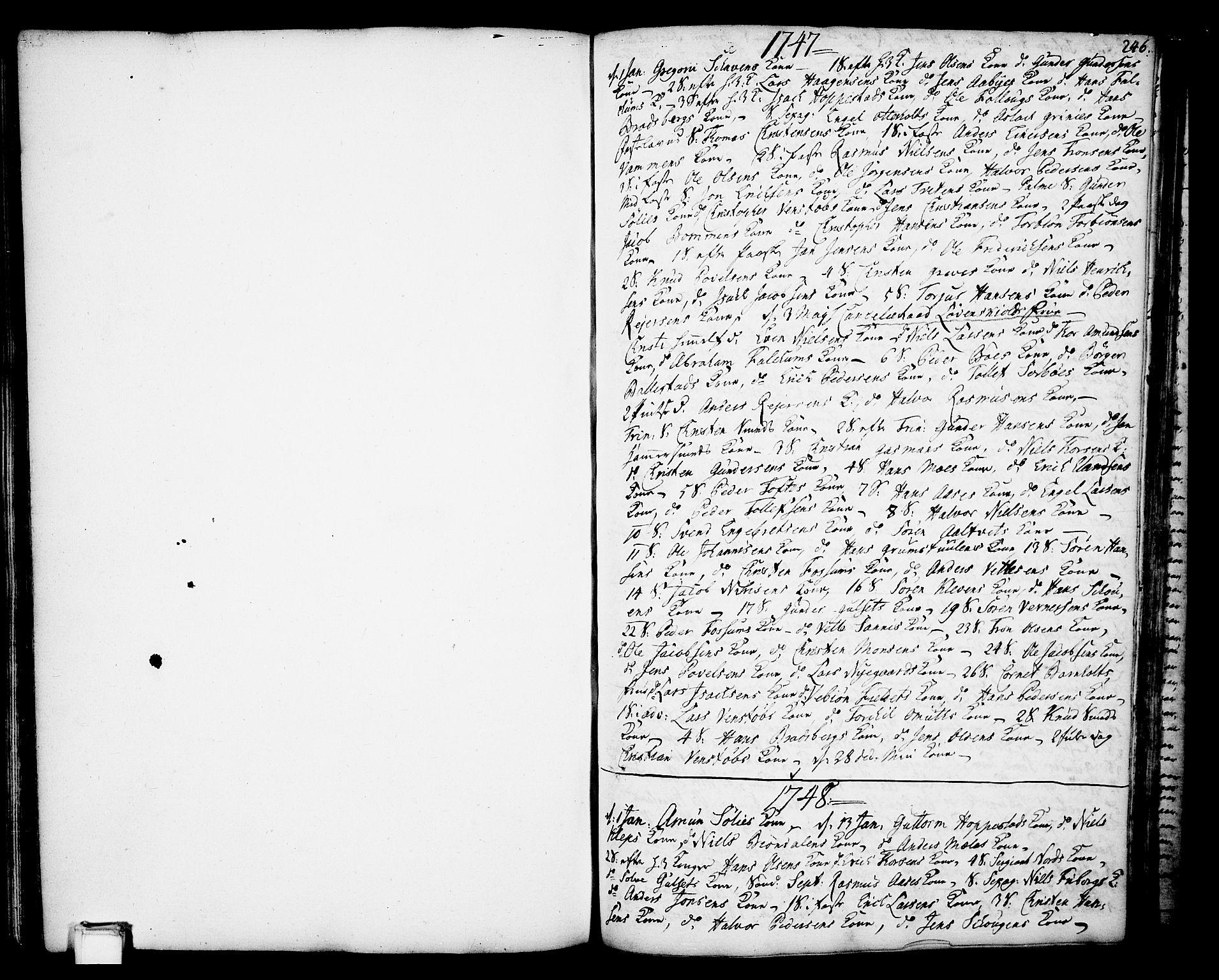 SAKO, Gjerpen kirkebøker, F/Fa/L0002: Ministerialbok nr. 2, 1747-1795, s. 246