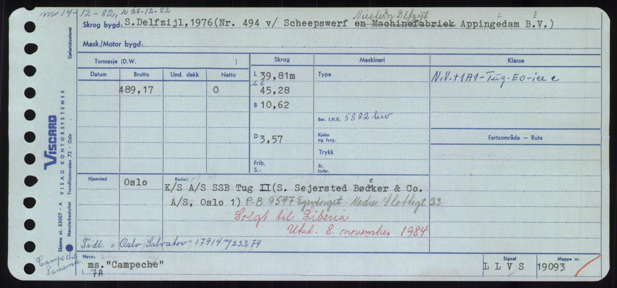 RA, Sjøfartsdirektoratet med forløpere, Skipsmålingen, H/Hd/L0008: Fartøy, C-D, s. 29