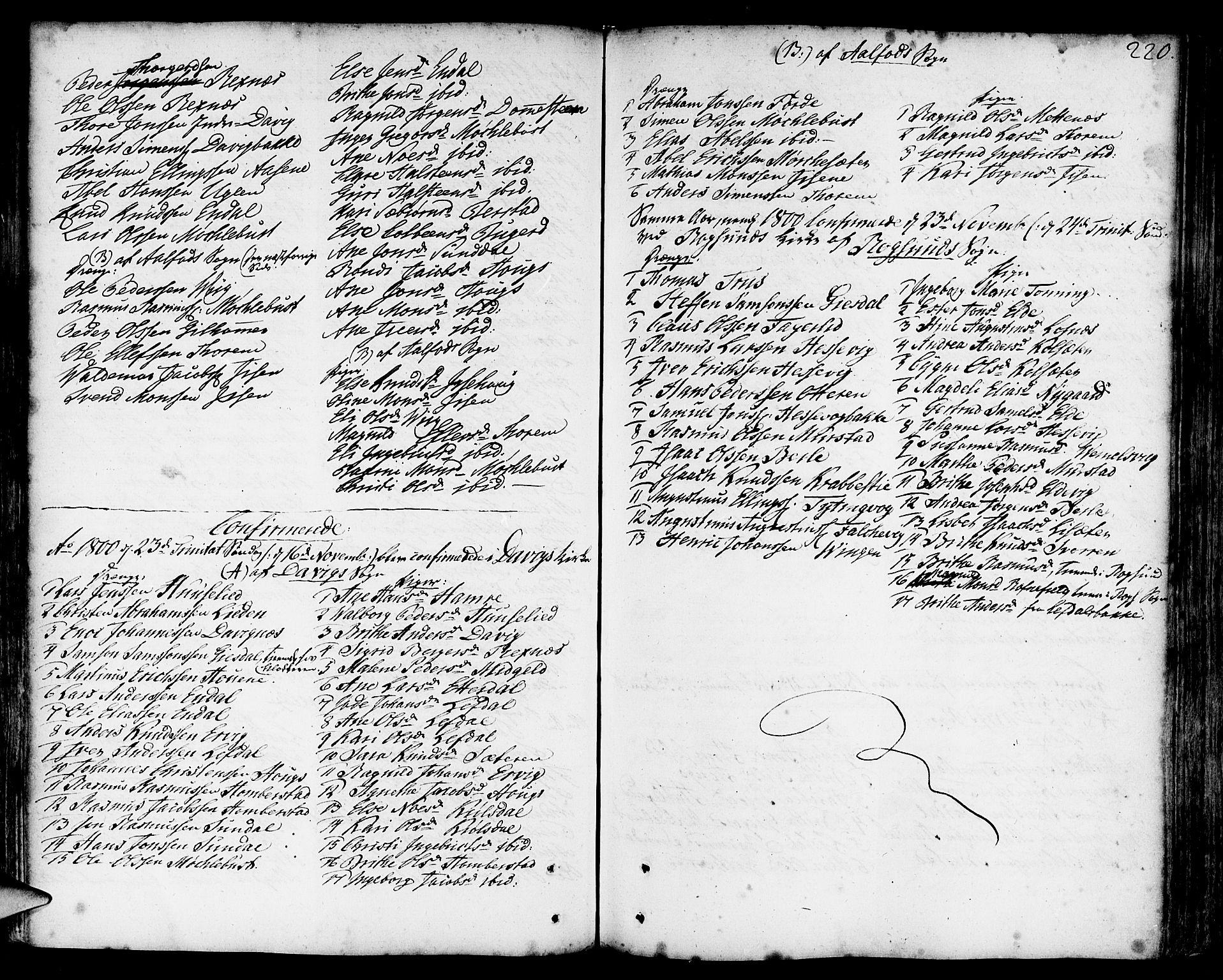 SAB, Davik Sokneprestembete, Ministerialbok nr. A 2, 1742-1816, s. 220