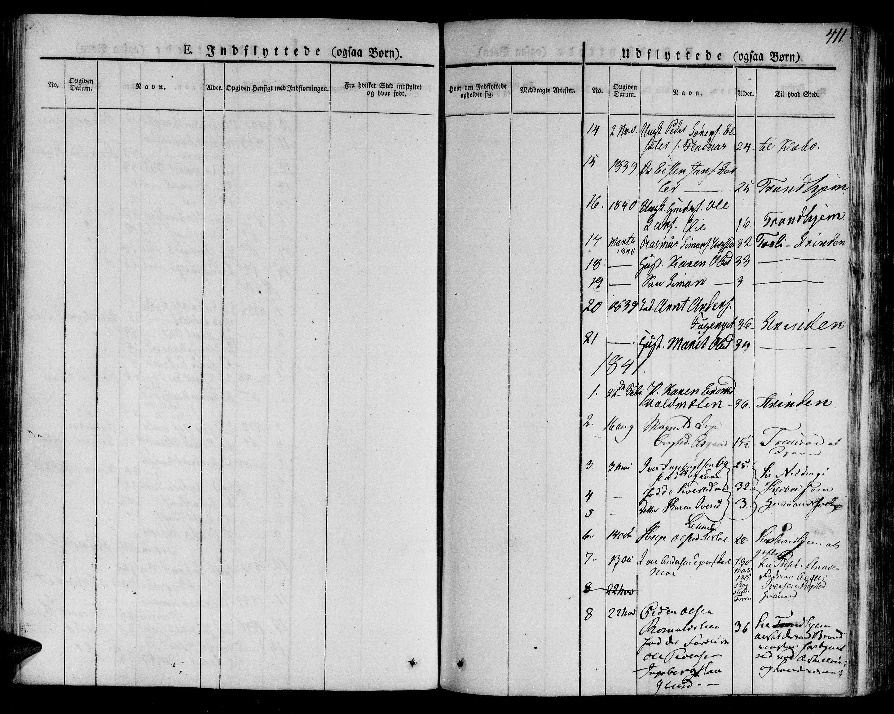 SAT, Ministerialprotokoller, klokkerbøker og fødselsregistre - Sør-Trøndelag, 691/L1071: Ministerialbok nr. 691A05 /2, 1826-1841, s. 411