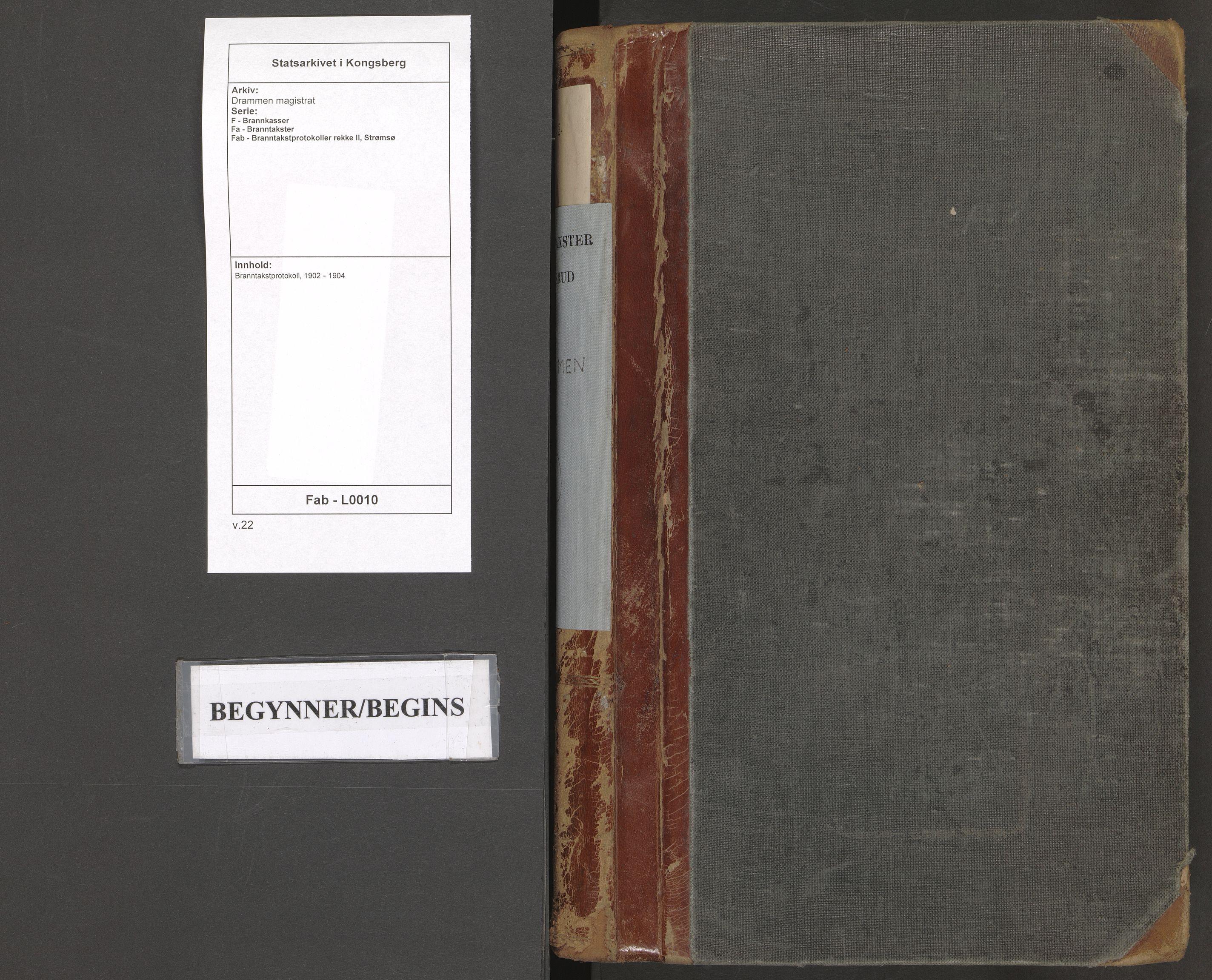 SAKO, Drammen magistrat, F/Fa/Fab/L0010: Branntakstprotokoll, 1902-1904
