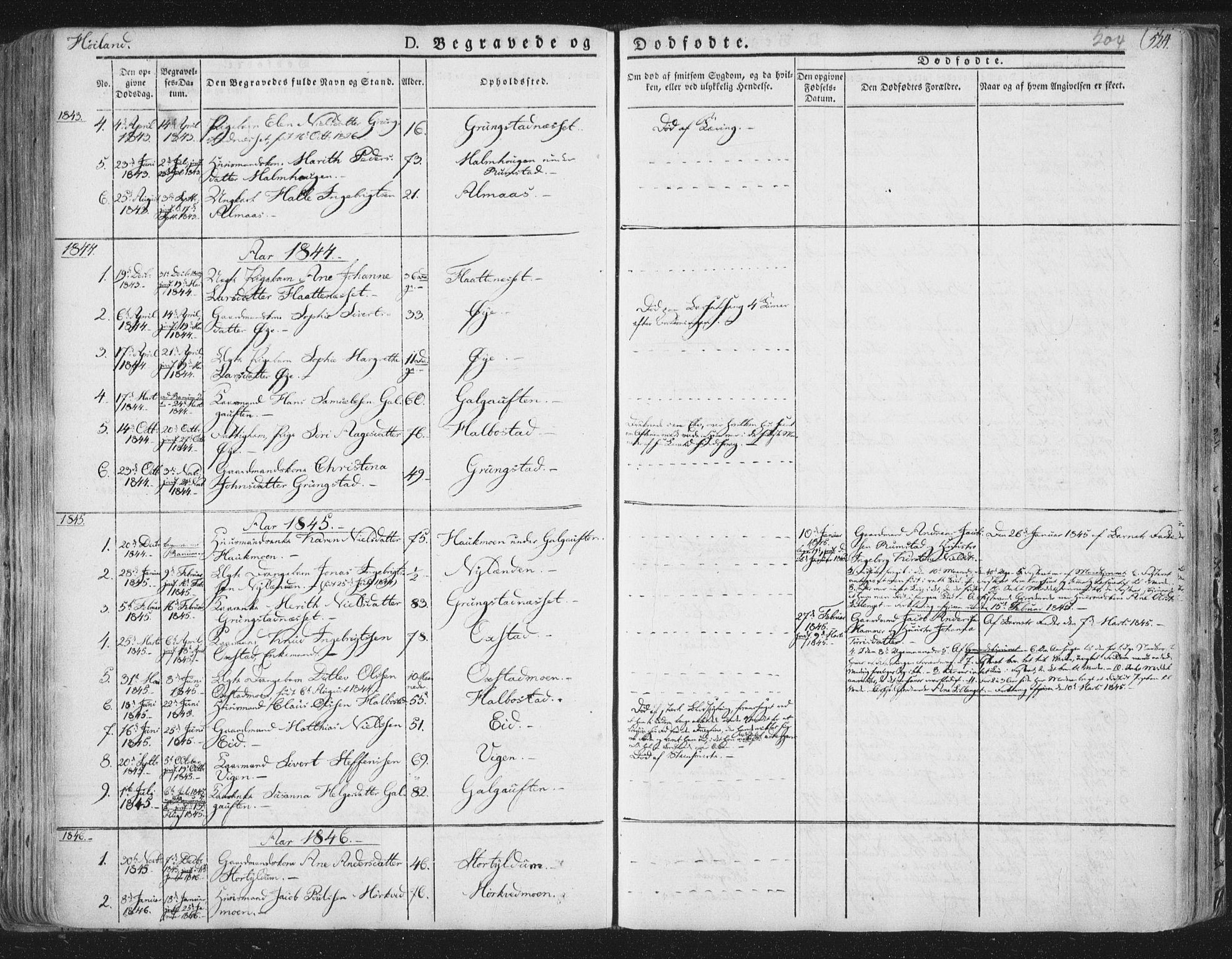 SAT, Ministerialprotokoller, klokkerbøker og fødselsregistre - Nord-Trøndelag, 758/L0513: Ministerialbok nr. 758A02 /2, 1839-1868, s. 204