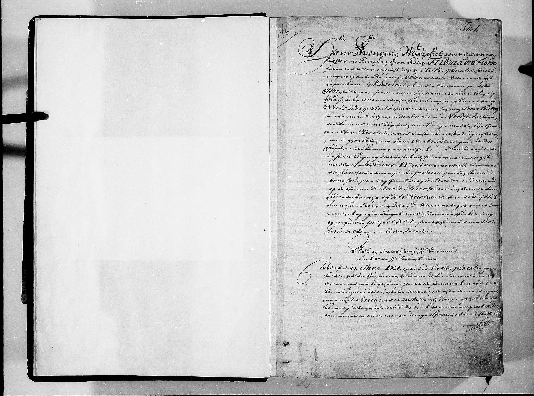 RA, Rentekammeret inntil 1814, Realistisk ordnet avdeling, N/Nb/Nbf/L0146: Sunnfjord og Nordfjord eksaminasjonsprotokoll, 1723, s. 1a