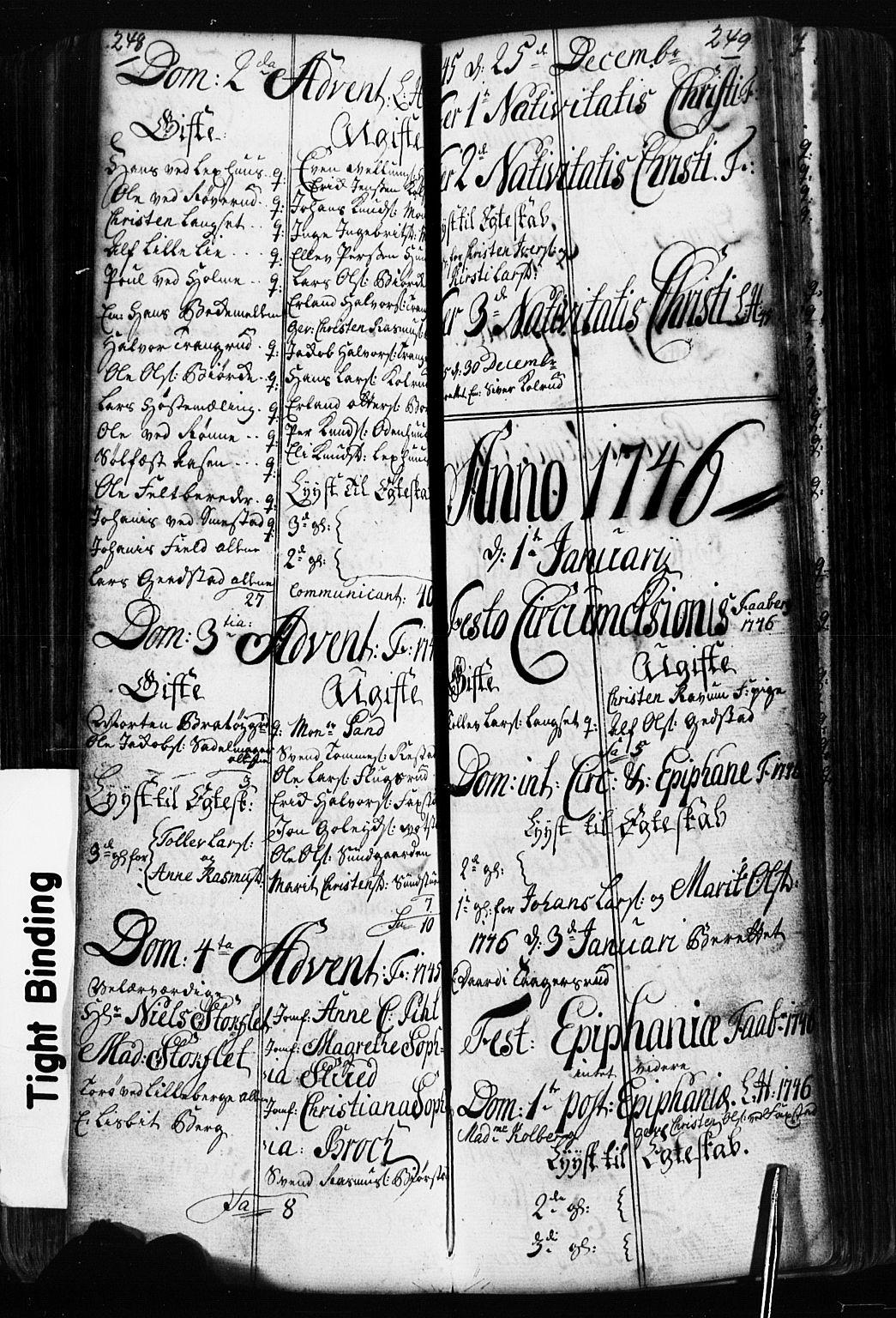 SAH, Fåberg prestekontor, Klokkerbok nr. 2, 1741-1756, s. 248-249