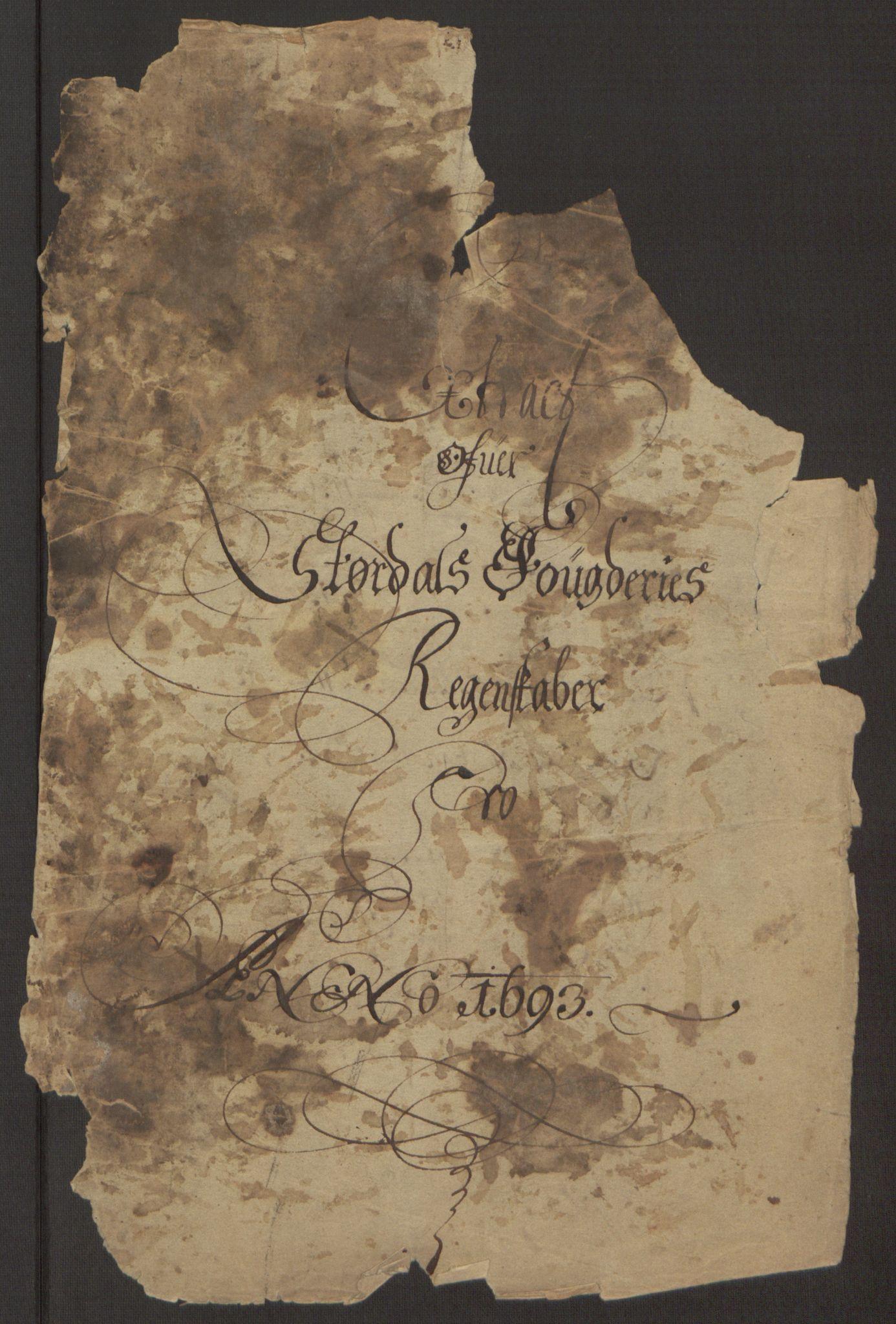 RA, Rentekammeret inntil 1814, Reviderte regnskaper, Fogderegnskap, R62/L4186: Fogderegnskap Stjørdal og Verdal, 1693-1694, s. 4