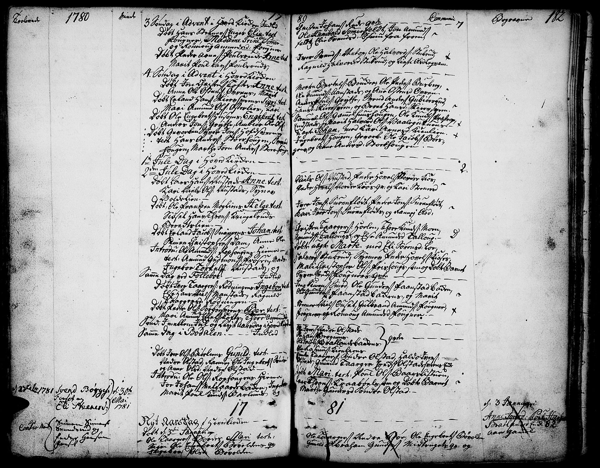 SAH, Gausdal prestekontor, Ministerialbok nr. 3, 1758-1809, s. 182