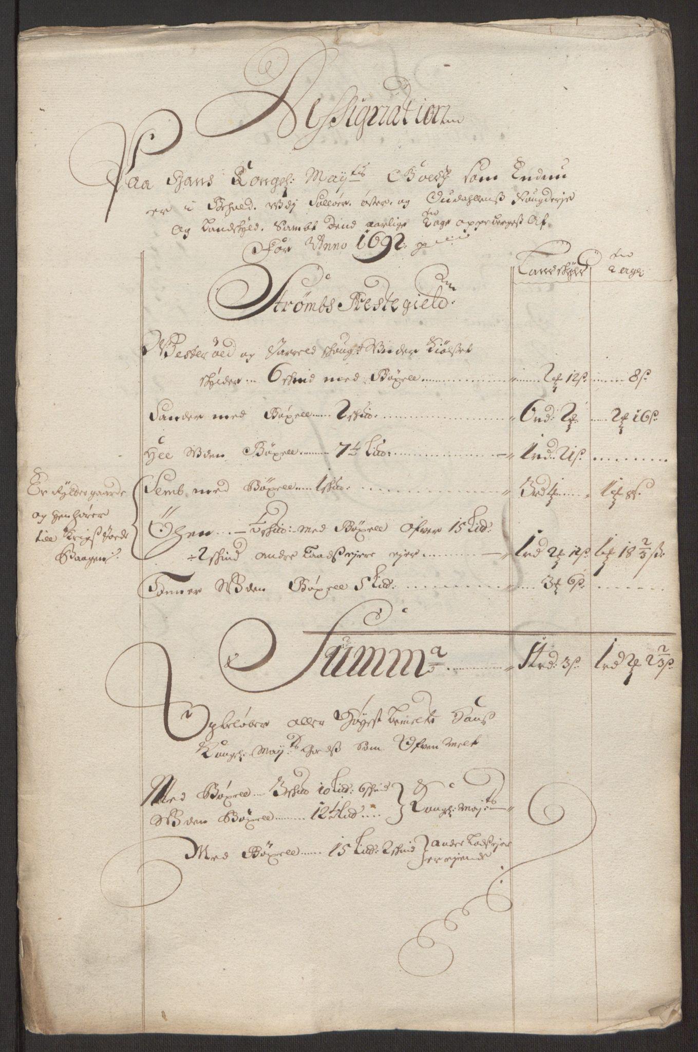 RA, Rentekammeret inntil 1814, Reviderte regnskaper, Fogderegnskap, R13/L0830: Fogderegnskap Solør, Odal og Østerdal, 1692, s. 30