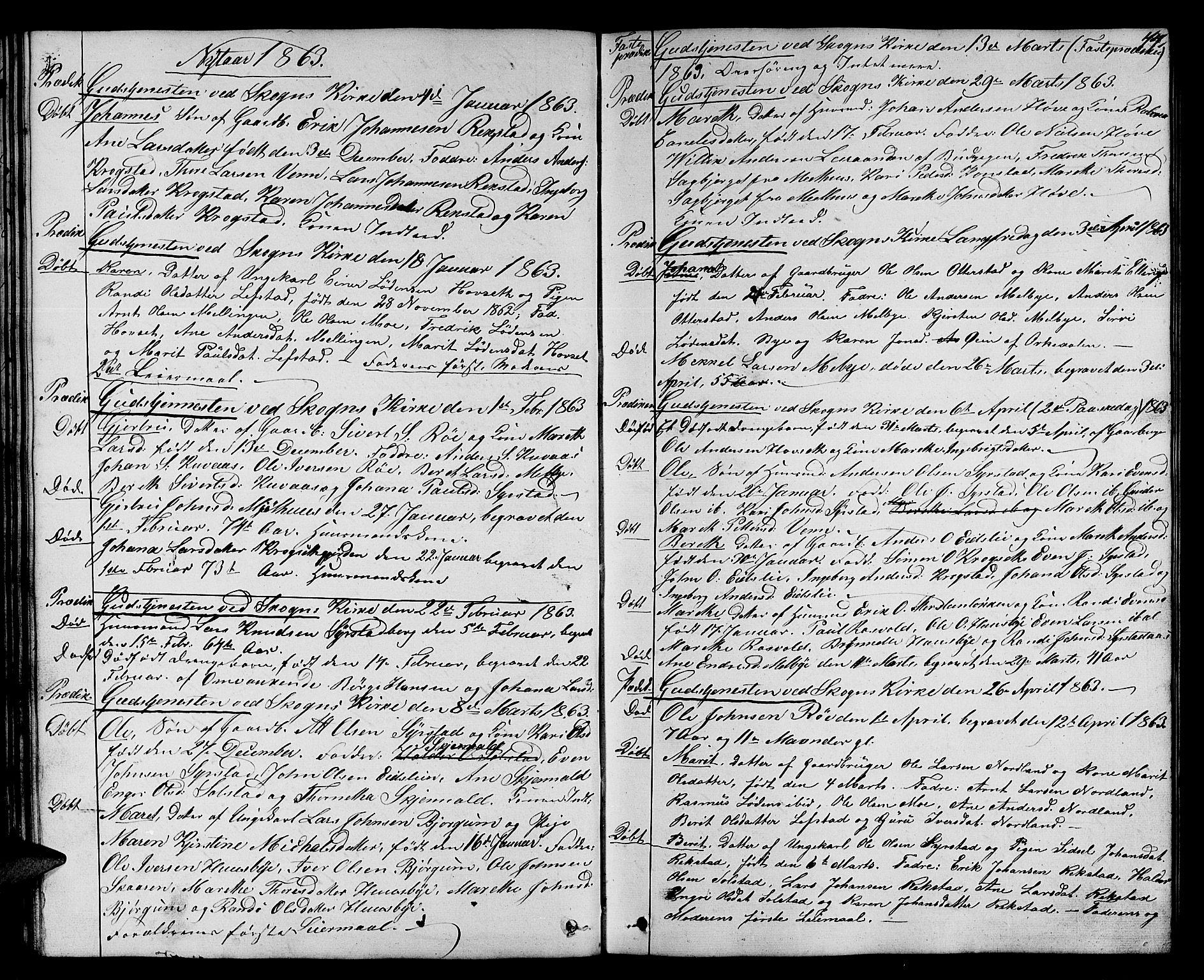 SAT, Ministerialprotokoller, klokkerbøker og fødselsregistre - Sør-Trøndelag, 667/L0797: Klokkerbok nr. 667C02, 1849-1867, s. 44