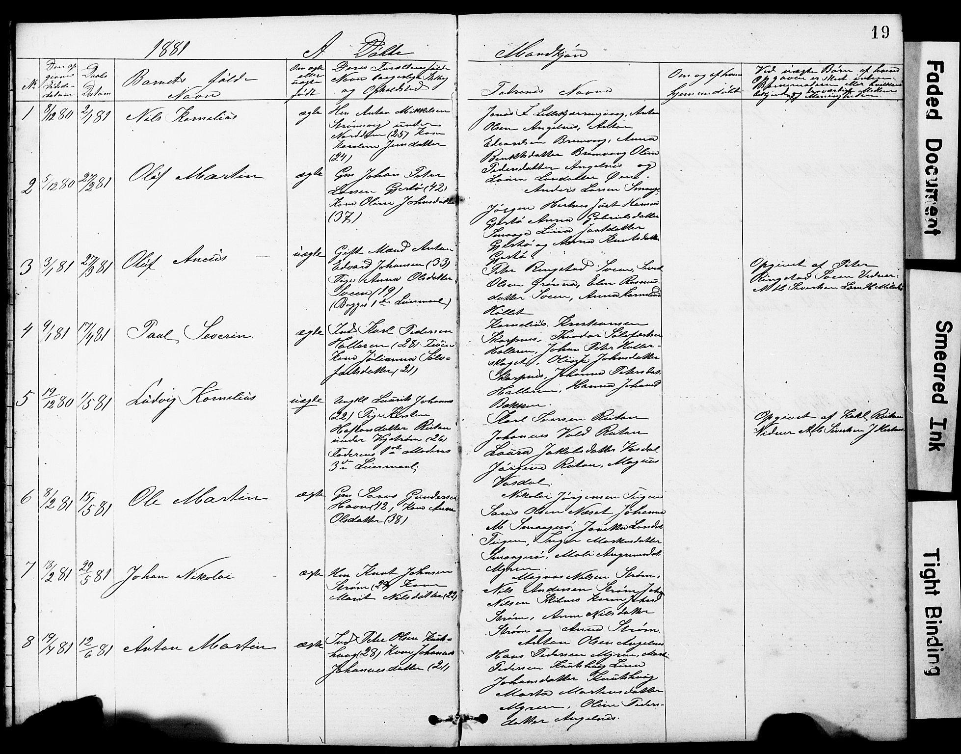 SAT, Ministerialprotokoller, klokkerbøker og fødselsregistre - Sør-Trøndelag, 634/L0541: Klokkerbok nr. 634C03, 1874-1891, s. 19