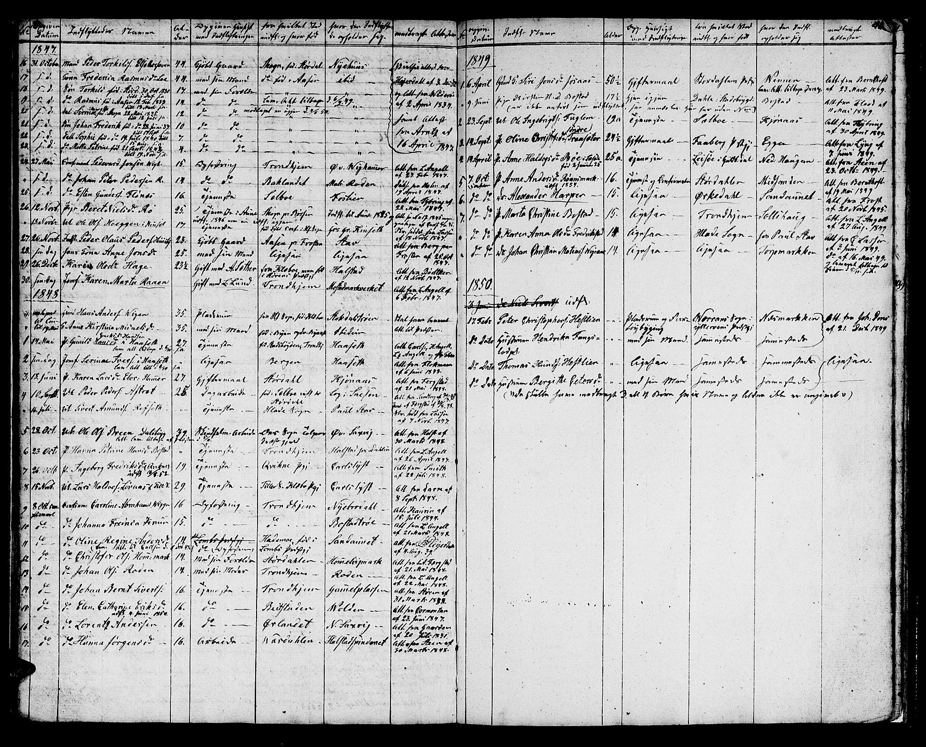 SAT, Ministerialprotokoller, klokkerbøker og fødselsregistre - Sør-Trøndelag, 616/L0421: Klokkerbok nr. 616C04, 1834-1850, s. 51