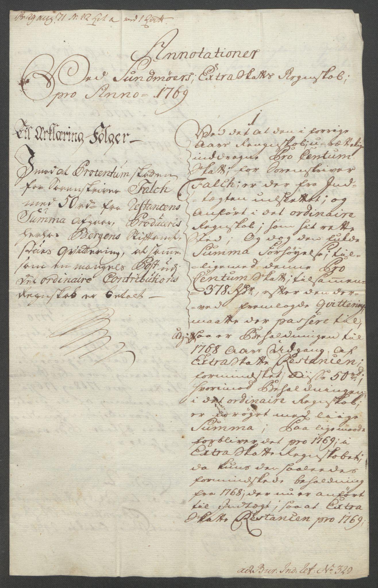 RA, Rentekammeret inntil 1814, Reviderte regnskaper, Fogderegnskap, R54/L3645: Ekstraskatten Sunnmøre, 1762-1772, s. 187
