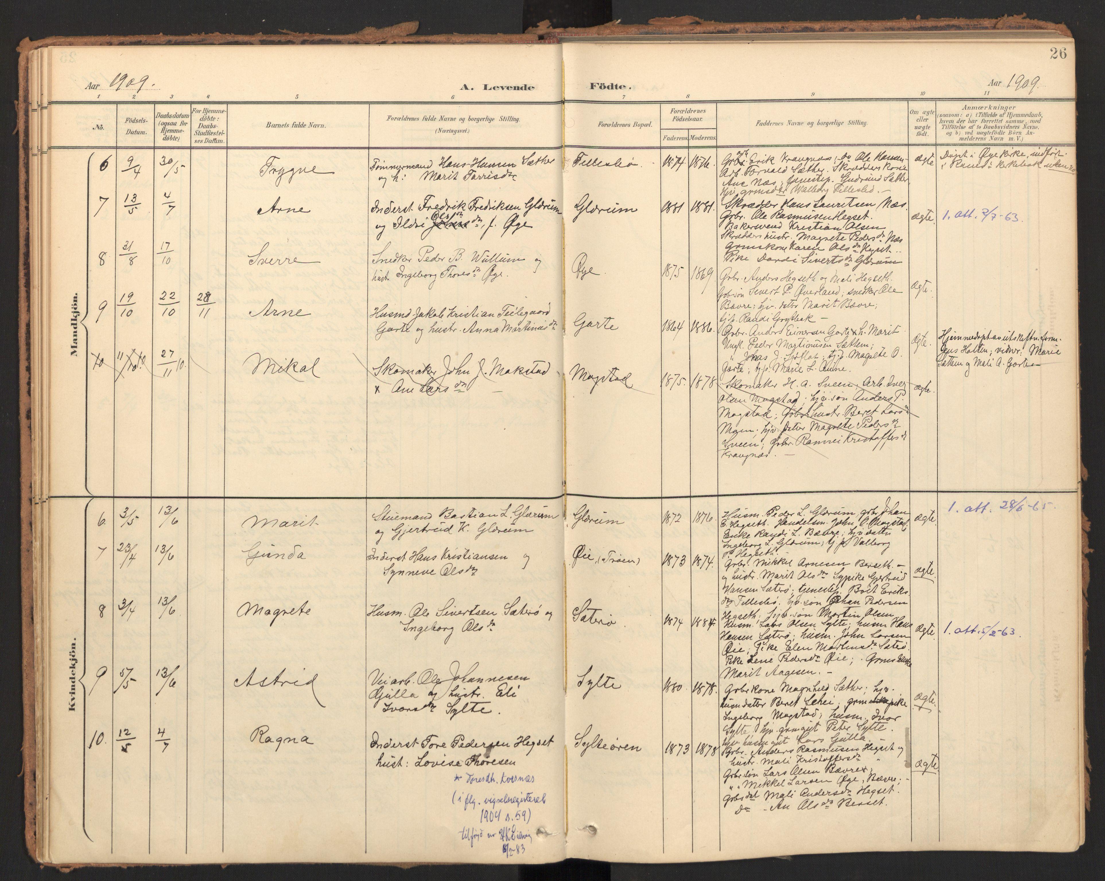 SAT, Ministerialprotokoller, klokkerbøker og fødselsregistre - Møre og Romsdal, 595/L1048: Ministerialbok nr. 595A10, 1900-1917, s. 26