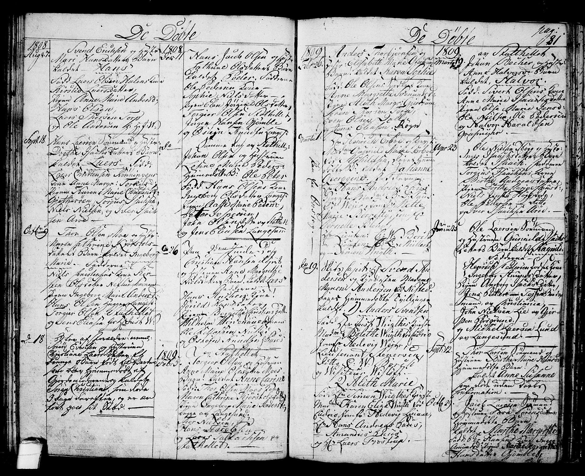 SAKO, Langesund kirkebøker, G/Ga/L0002: Klokkerbok nr. 2, 1801-1815, s. 81