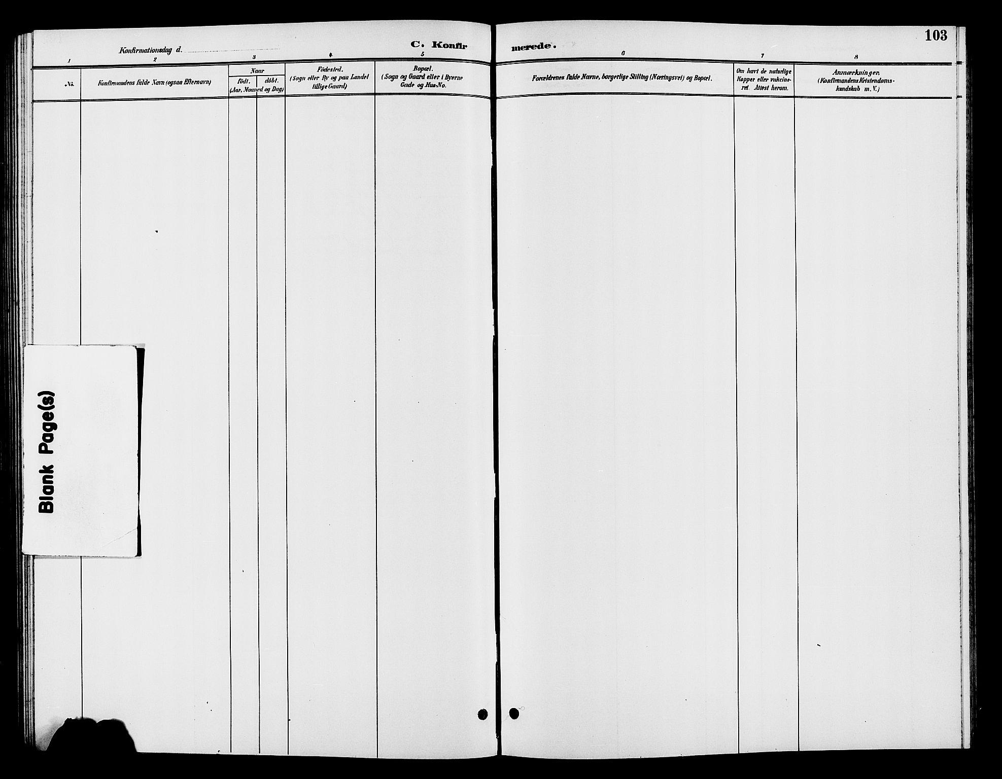 SAH, Vardal prestekontor, H/Ha/Hab/L0009: Klokkerbok nr. 9, 1894-1902, s. 103